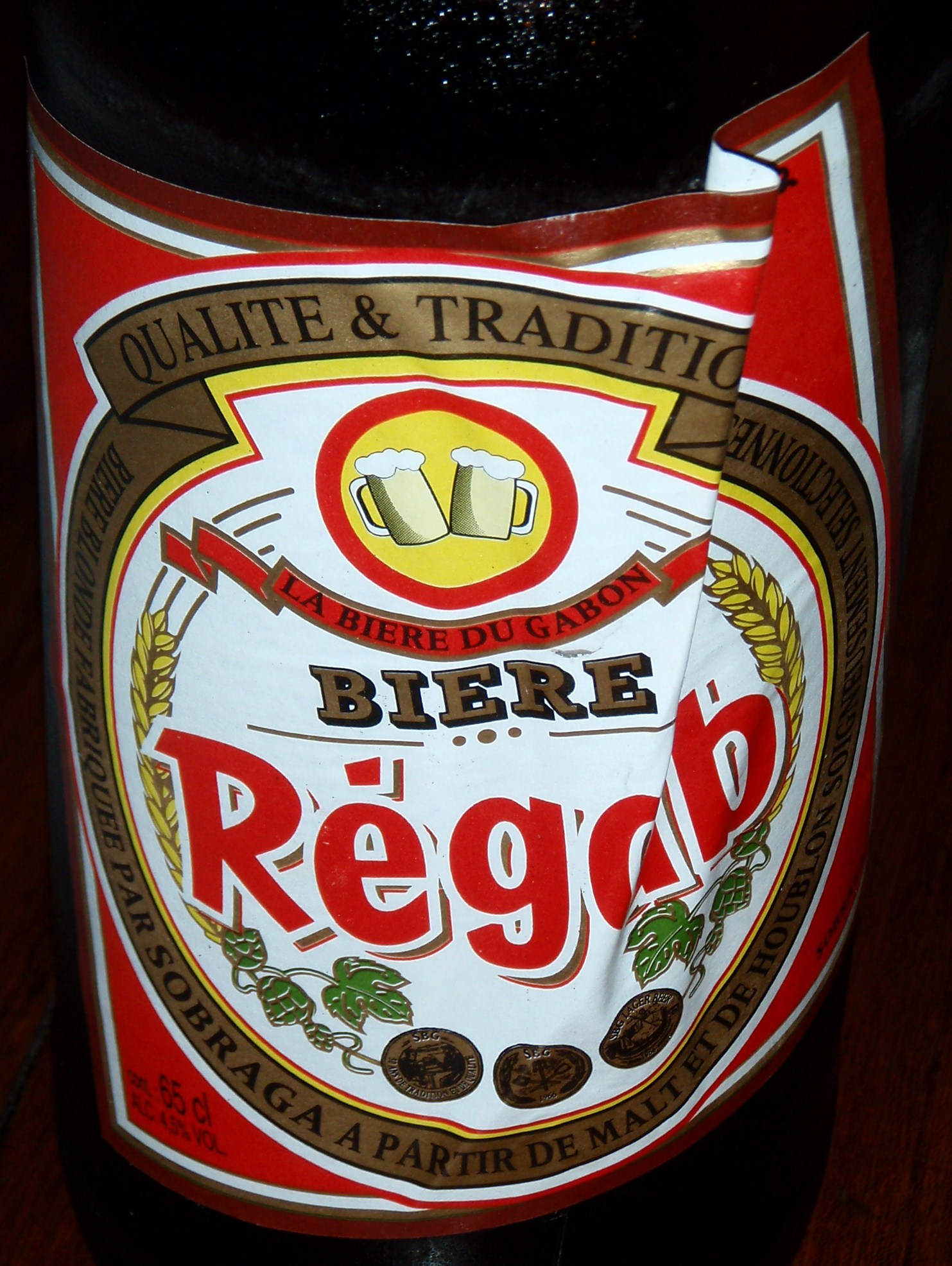 Local Beer of Regab; Port Gentil, Gabon; 2010