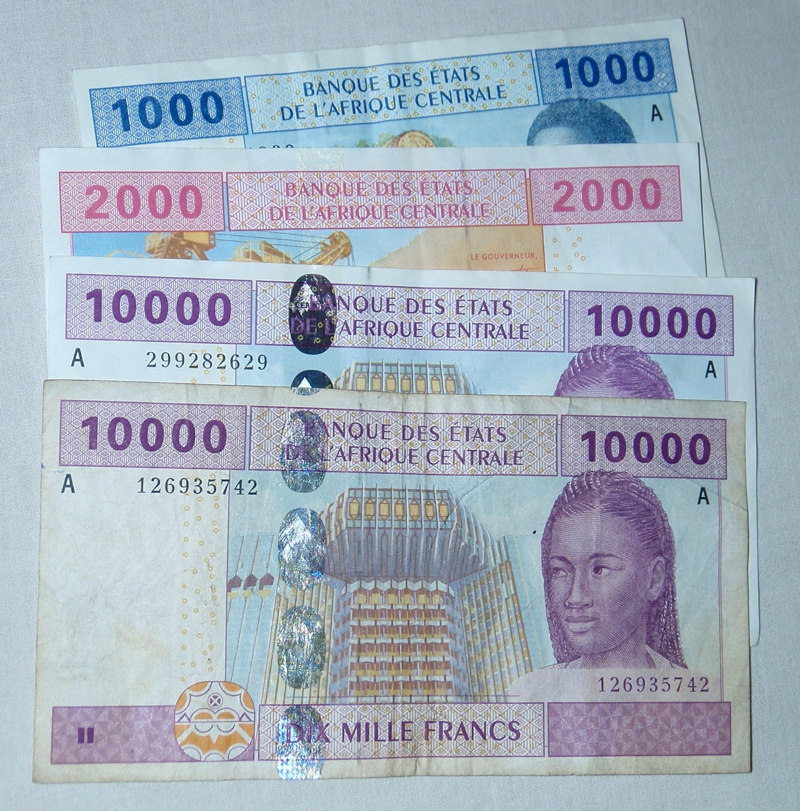 Central African CFA franc; Gabon; 2010