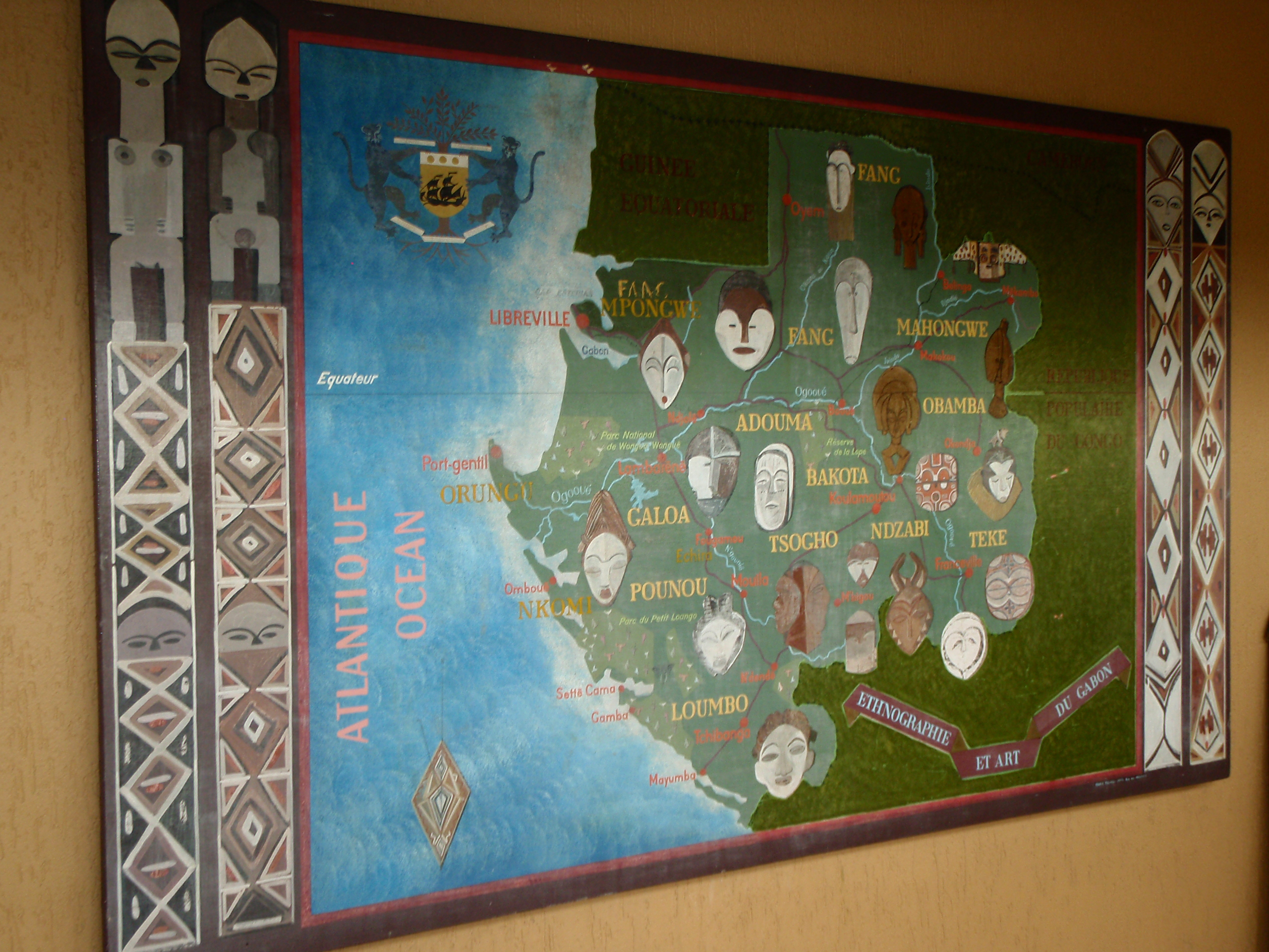 Map of African Tribes; Port Gentil, Gabon; 2010