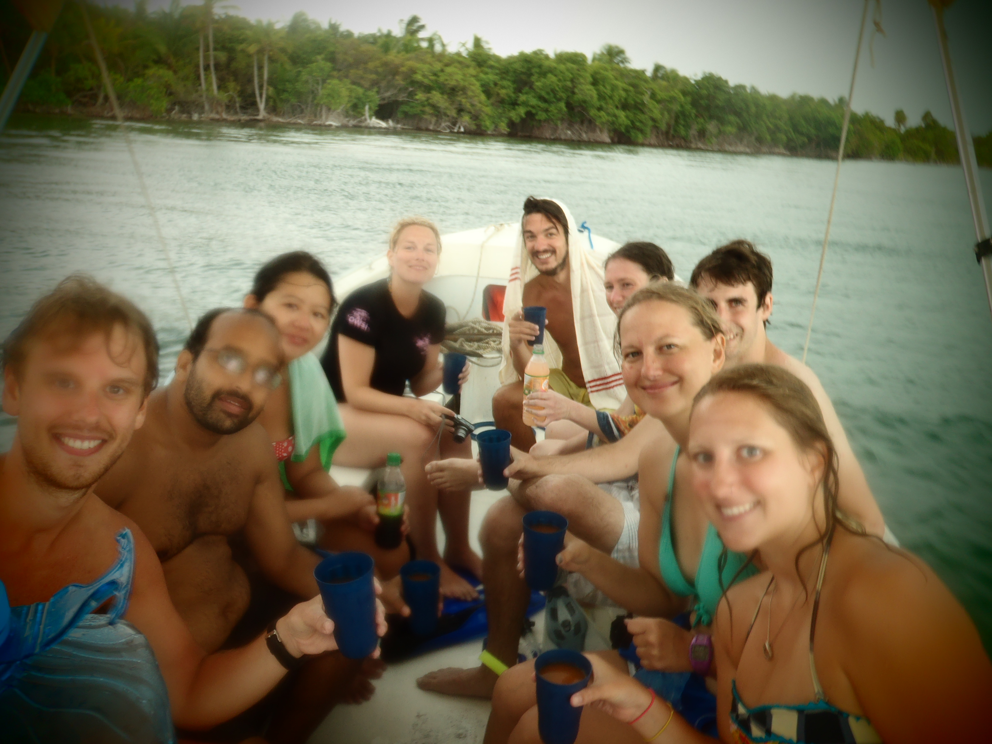 Snorkeling Group Shot; Caye Caulker, Belize; 2013