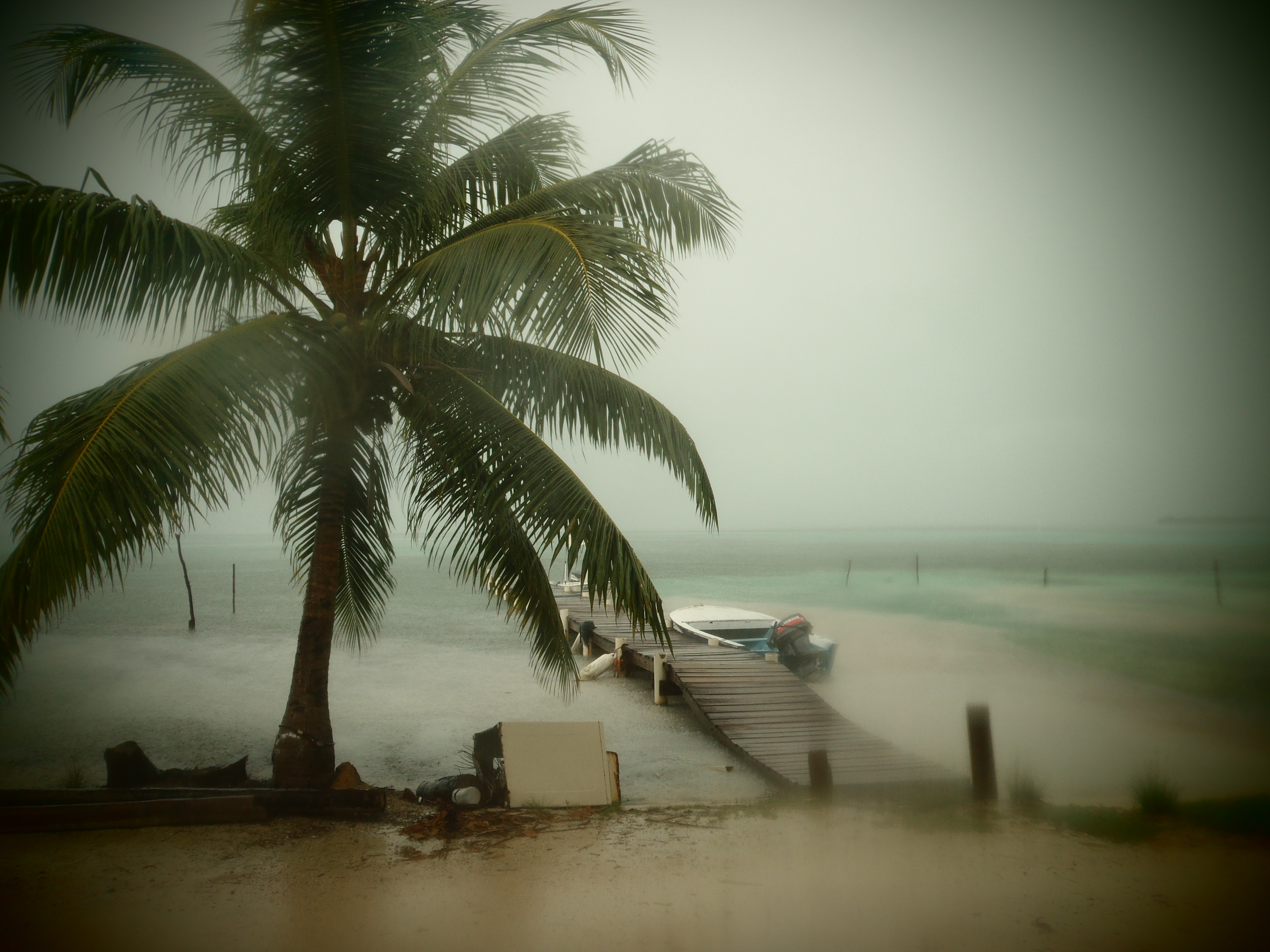 Hurricane Weather; Caye Caulker, Belize; 2013