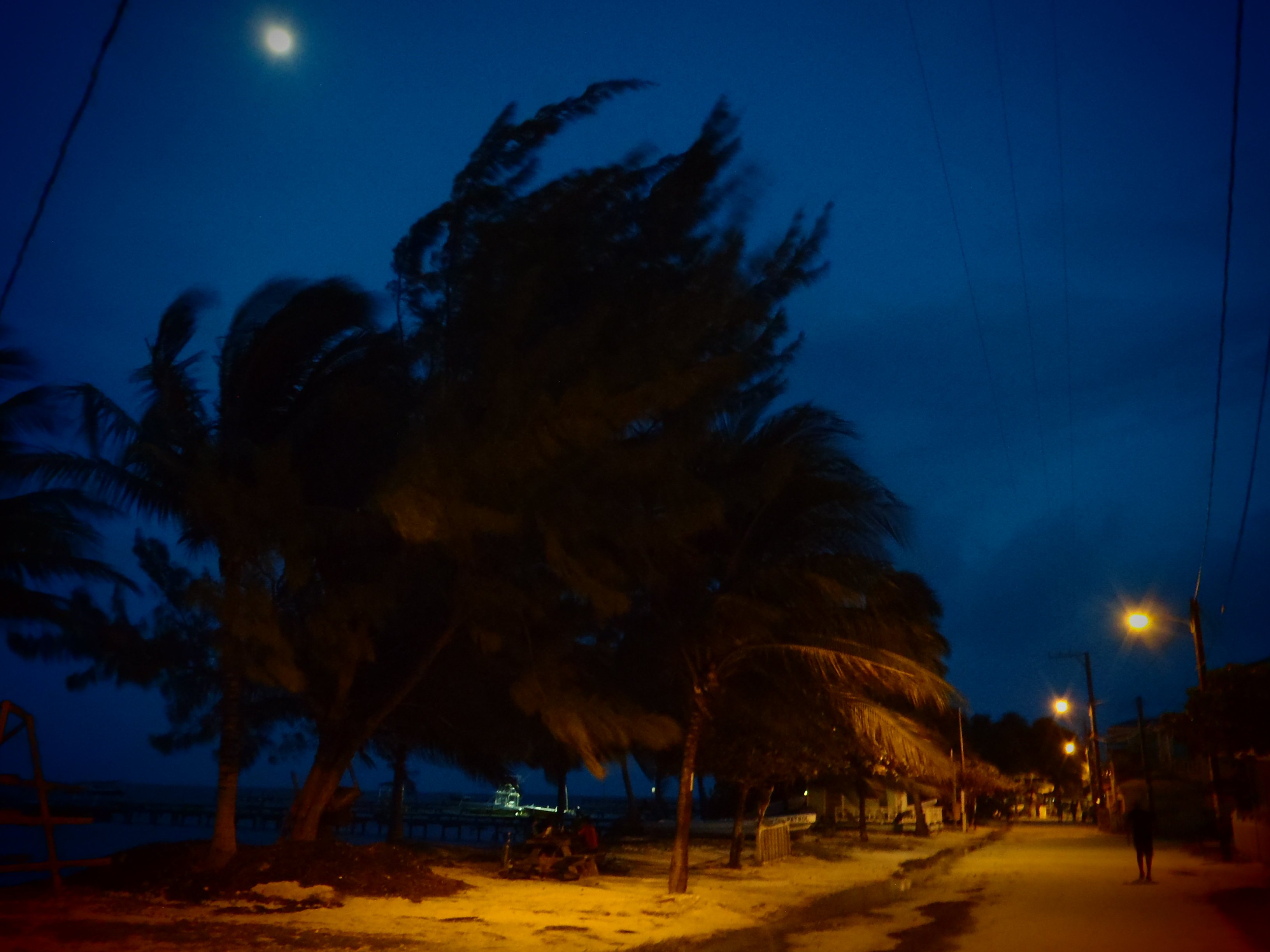 Nighttime on the Island; Caye Caulker, Belize; 2013