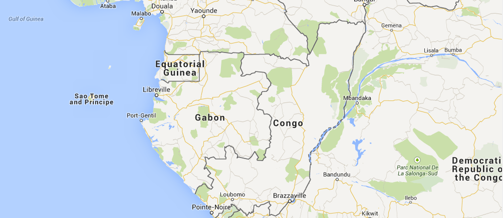 Location of Gabon in Africa
