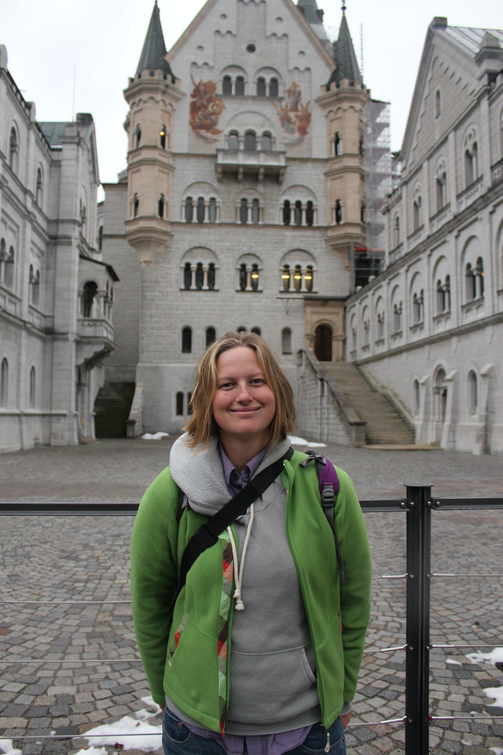 Pose at Neuschwanstein Castle; Schwangau Village, Germany; 2012