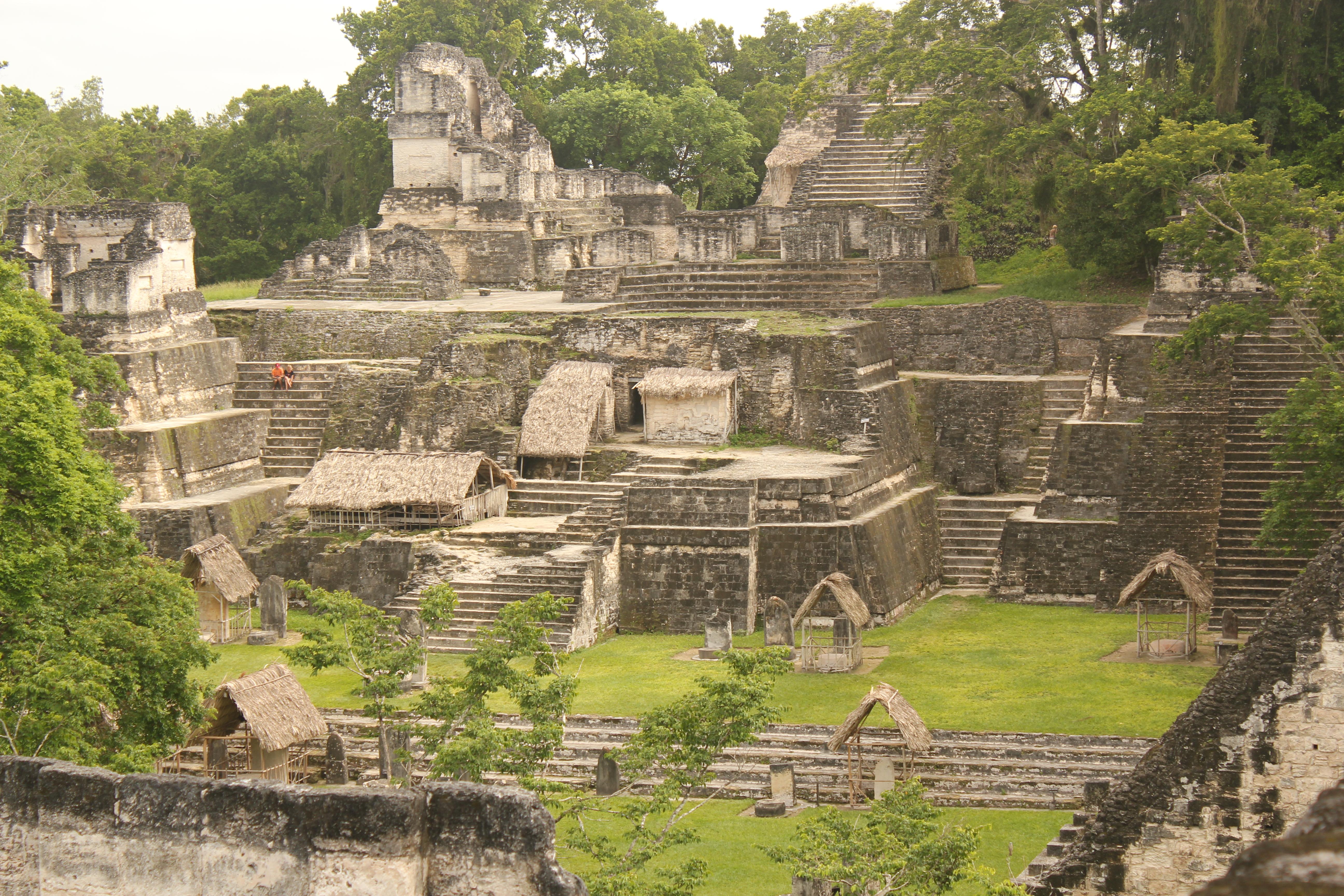 Overview of Tikal Ruins; Tikal, Guatemala; 2013