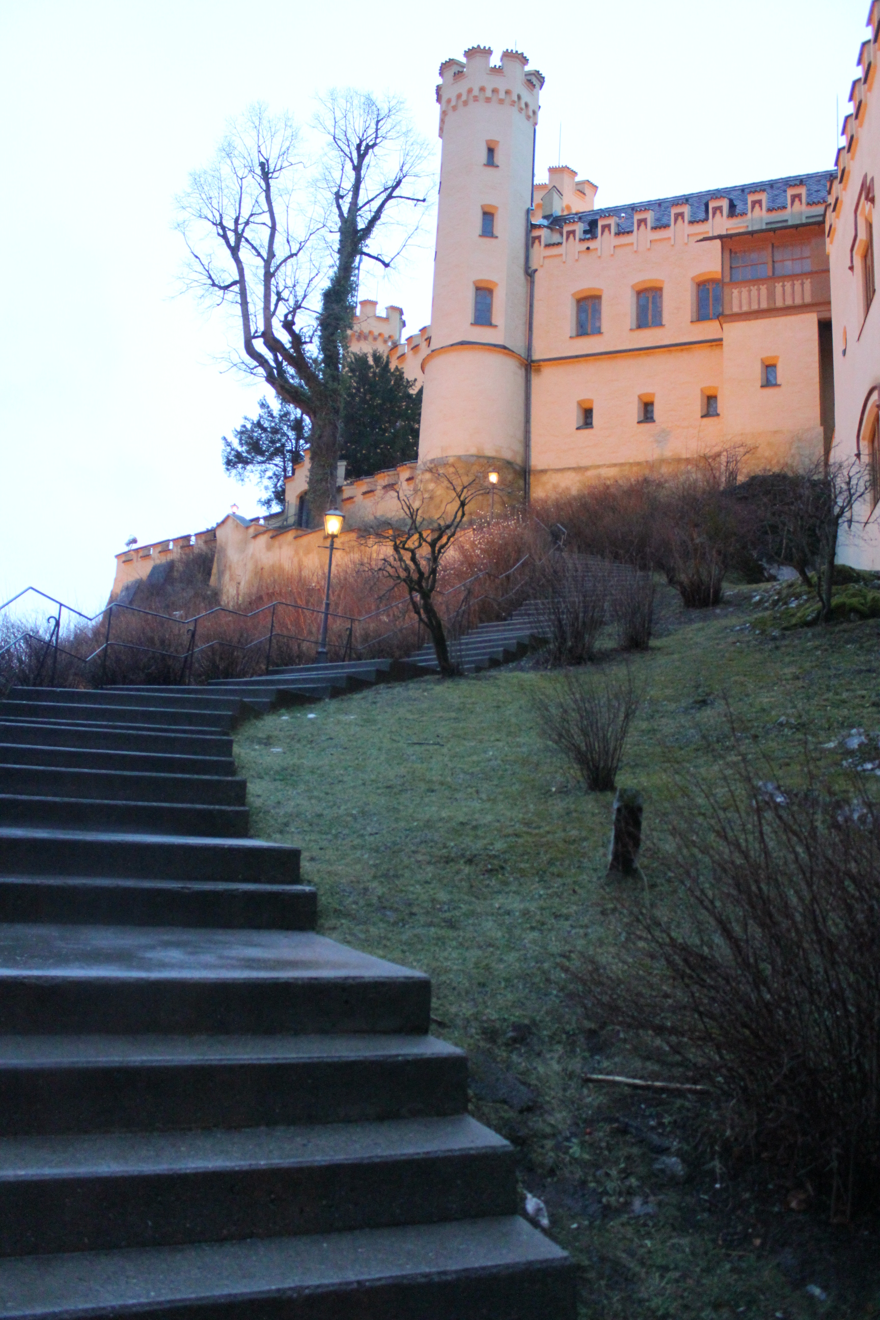 Steps Leading to Hohenschwangau Castle; Schwangau, Germany; 2012