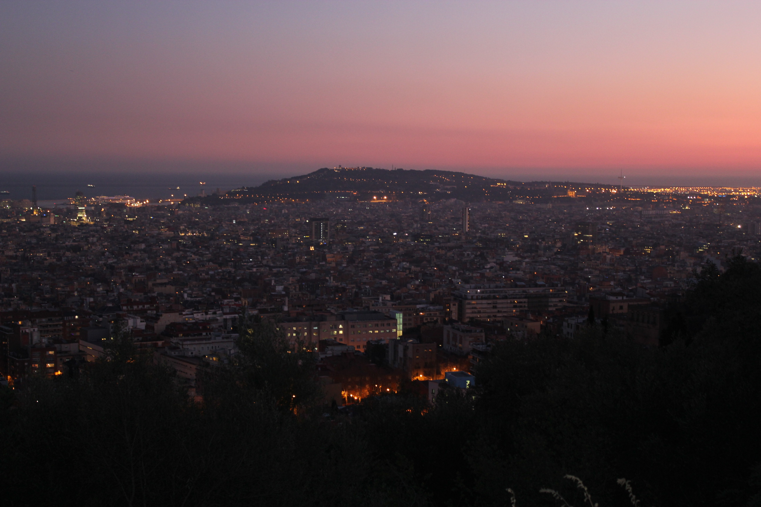 Nighttime Cityscape; Barcelona, Spain; 2012