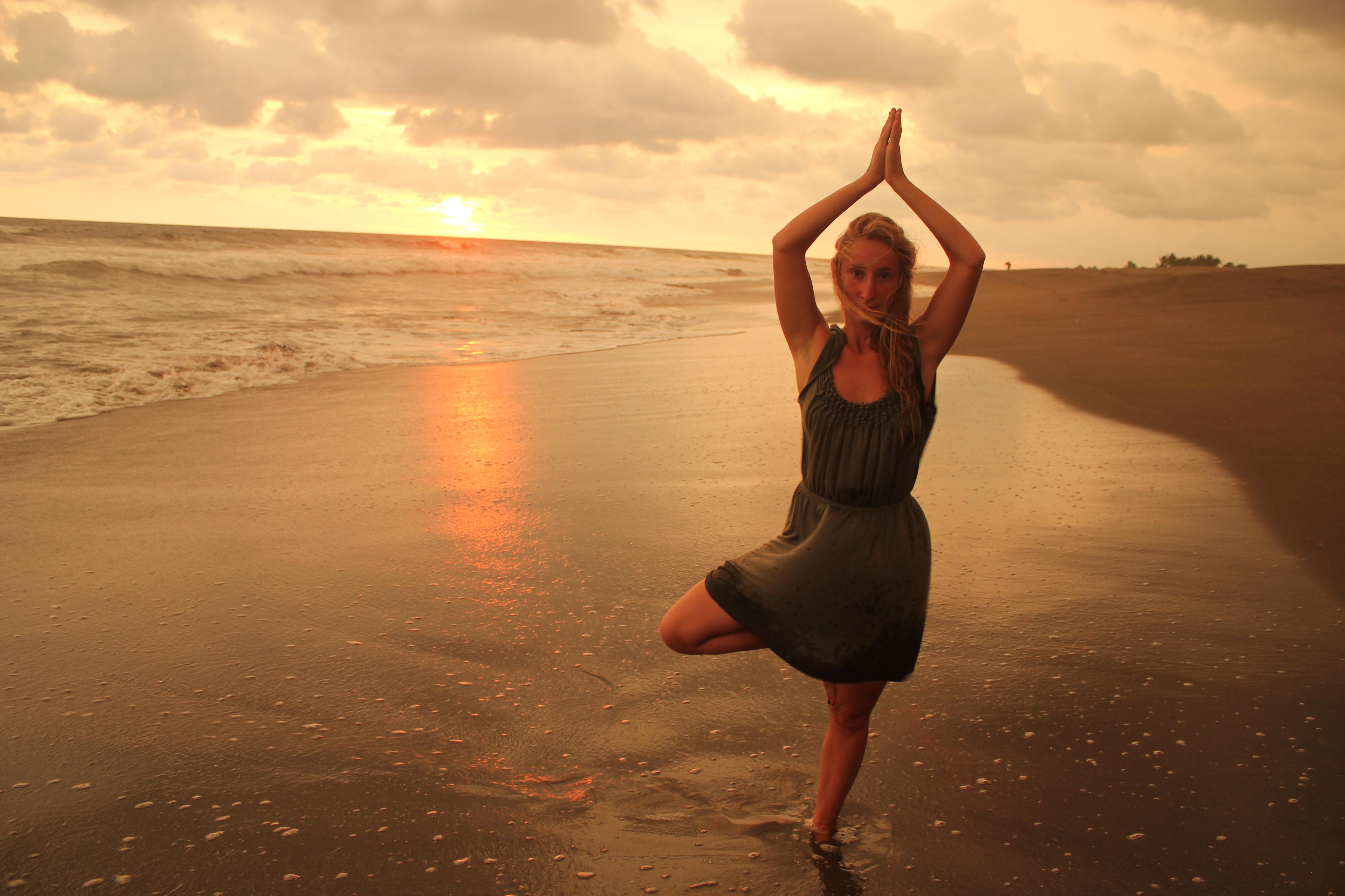 Yoga at Sunset with Johanna; Isla Los Brasiles, Nicaragua; 2013