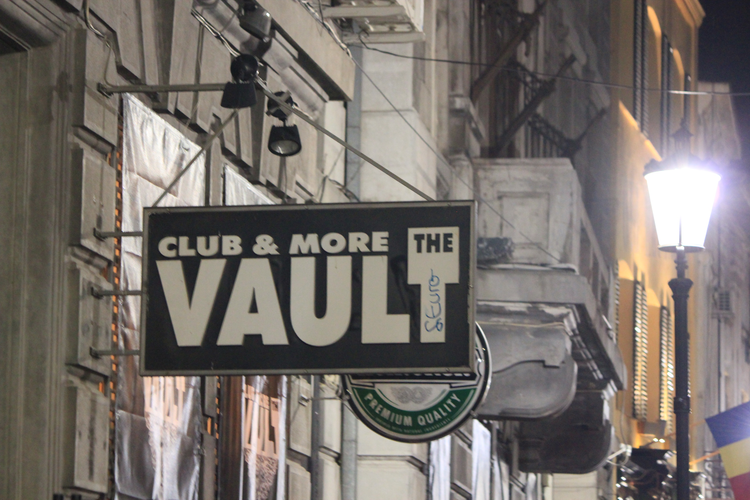 Club Vault; Bucharest, Romania; 2011
