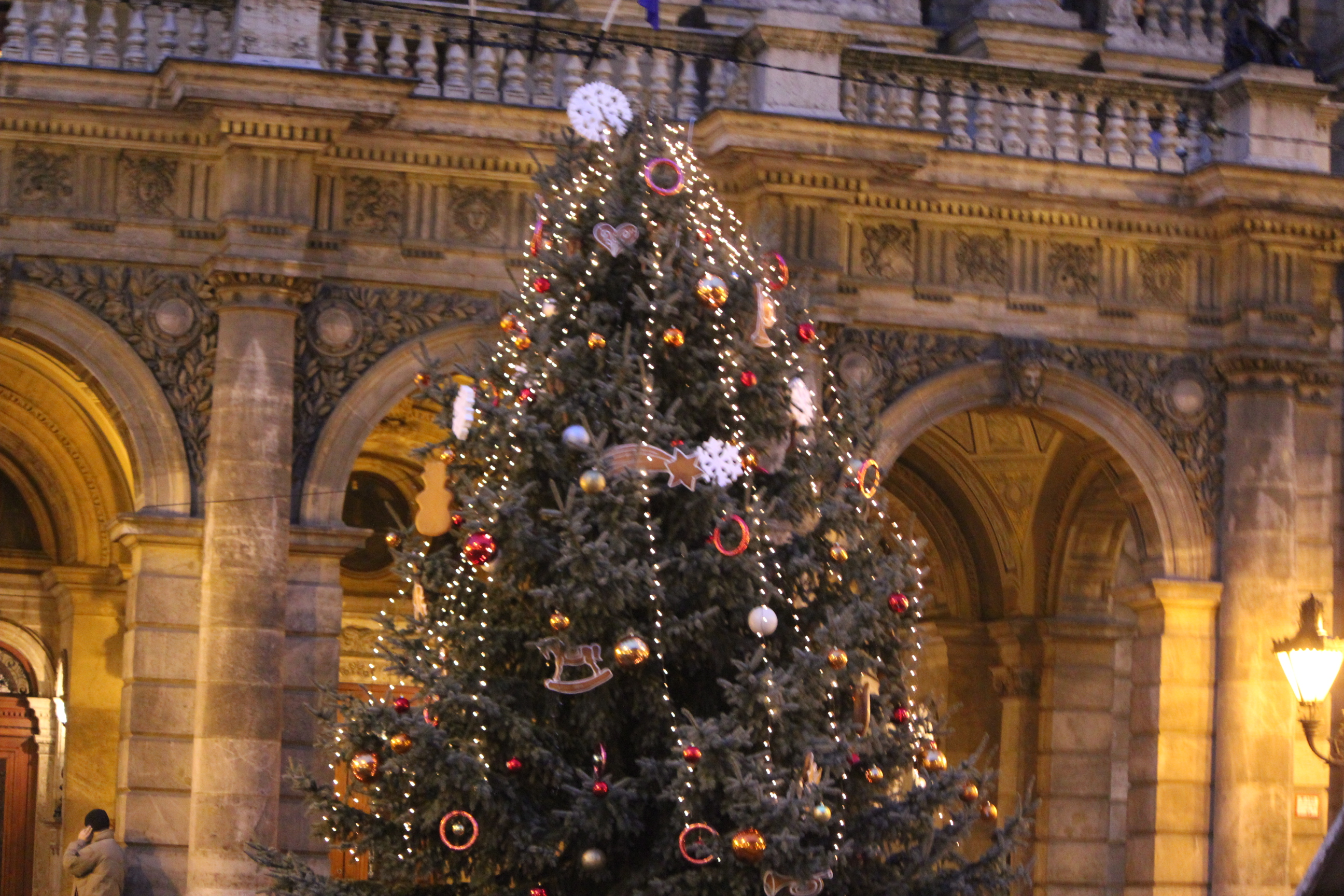 Downtown Christmas Tree; Budapest, Hungary; 2011
