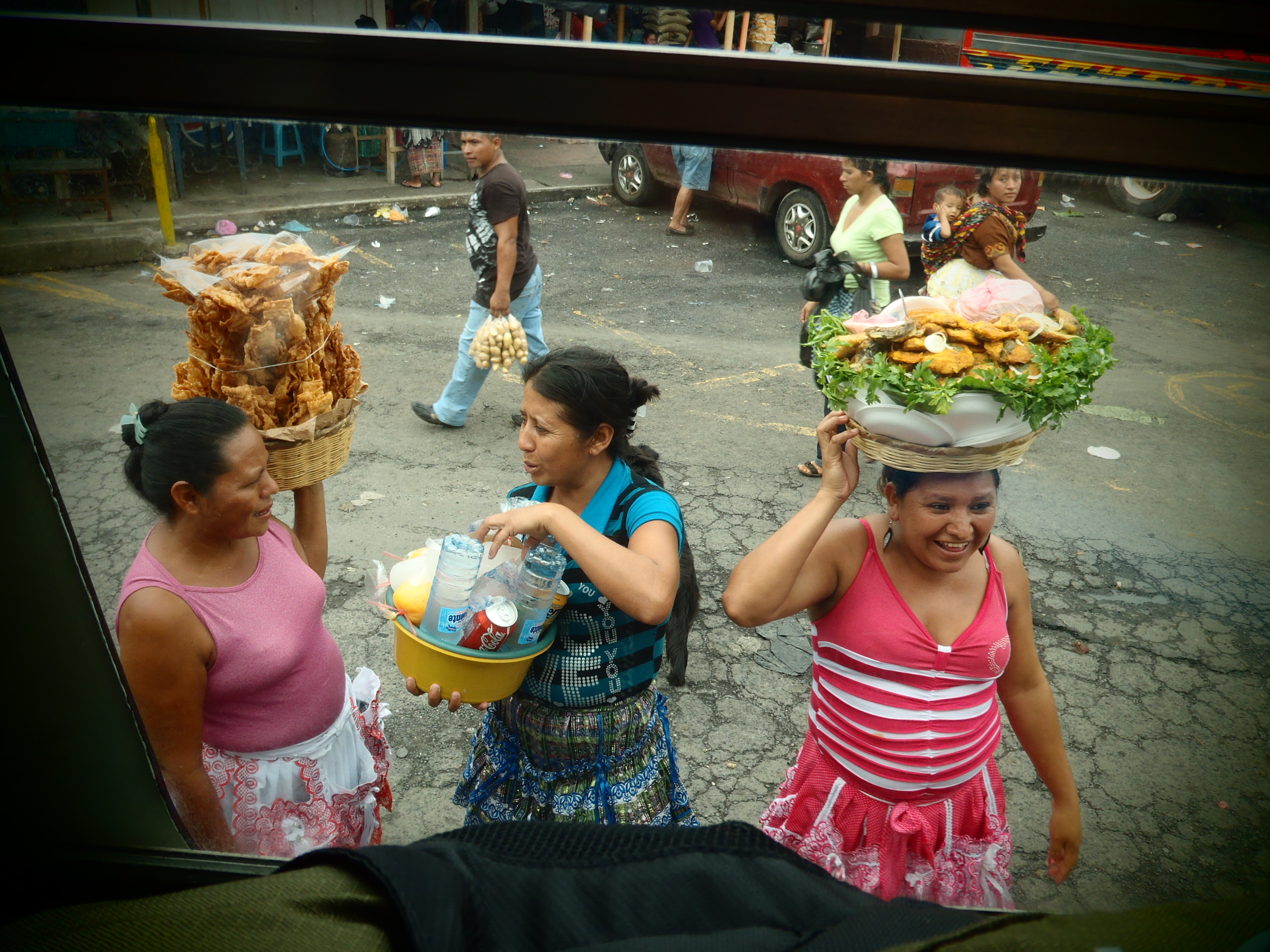 Locals with Treats; Guatemala; 2013