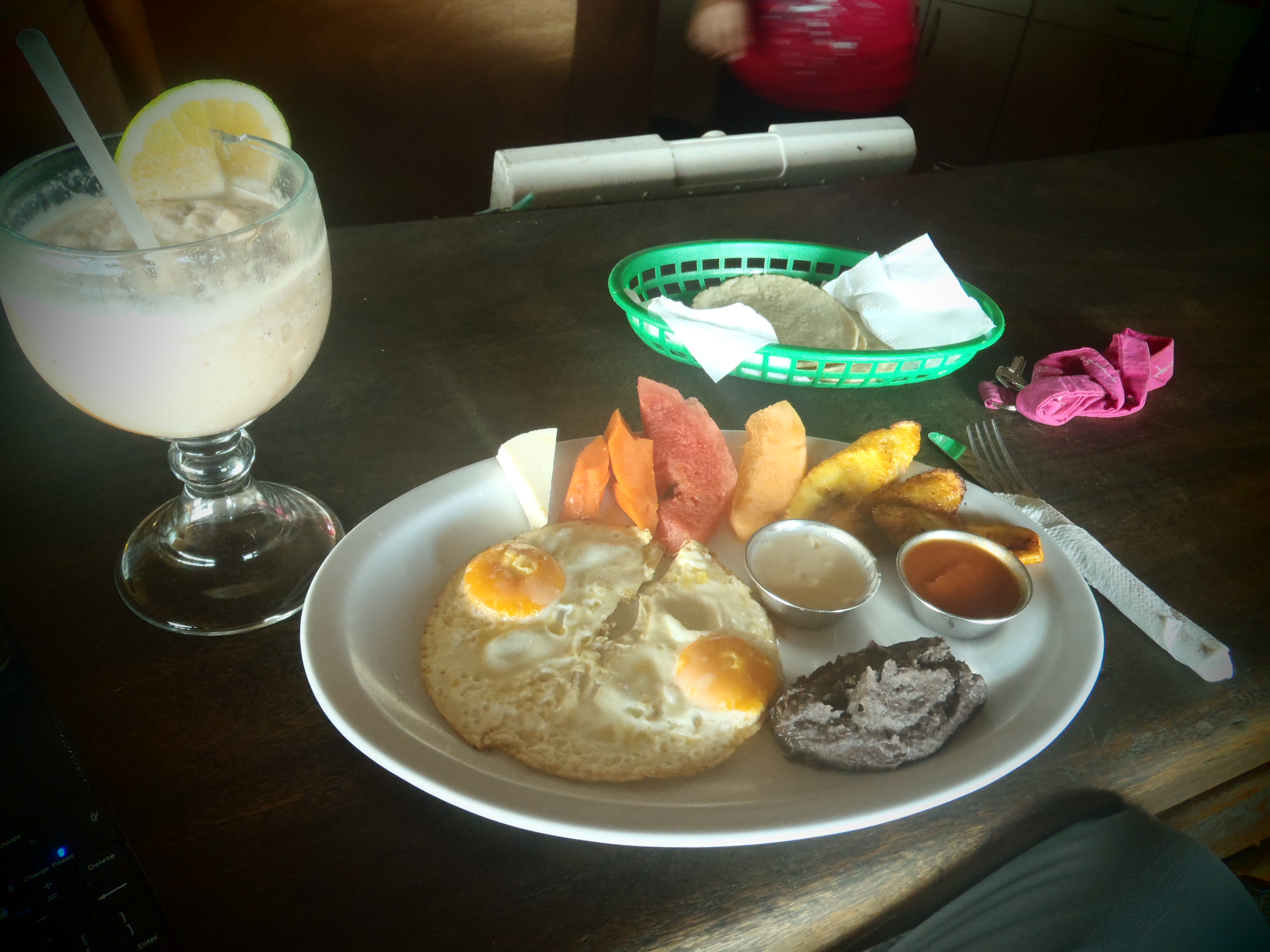 Guatemalan Breakfast at Johnny's Place; Monterrico, Guatemala; 2013