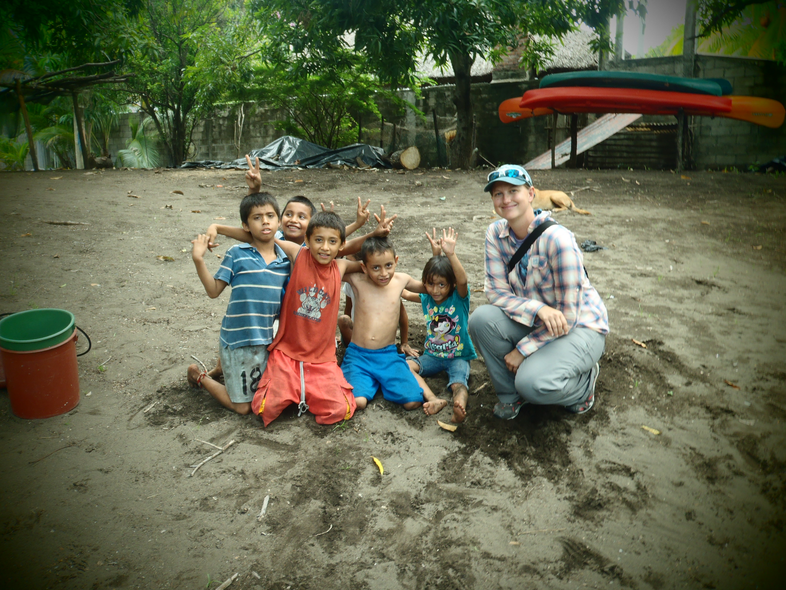 Hanging Out with the Local Kids; Monterrico, Guatemala; 2013
