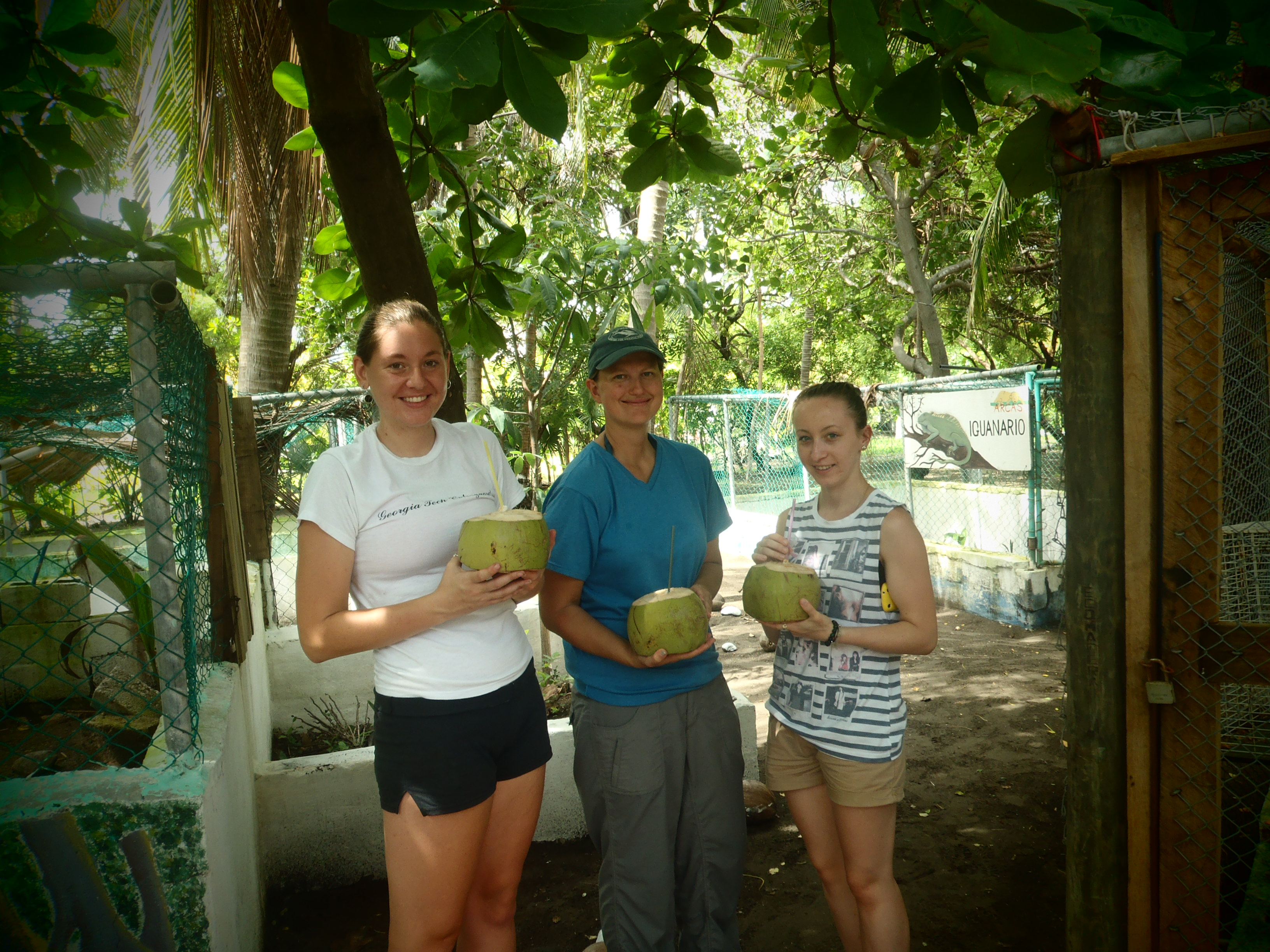 Drinking Coconuts with the Girls; Monterrico, Guatemala; 2013