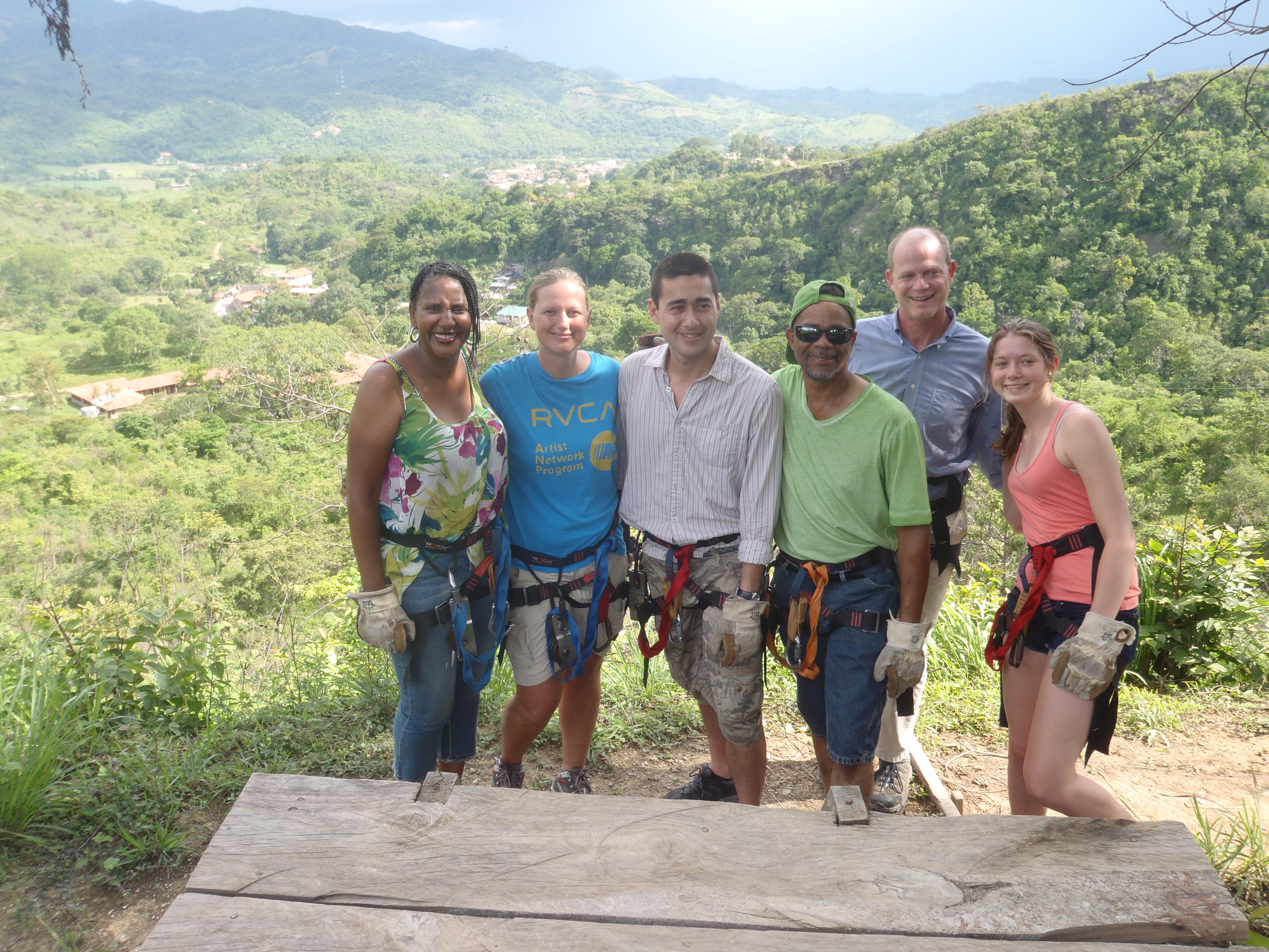 Zip Line Buddies; Copan, Honduras; 2013