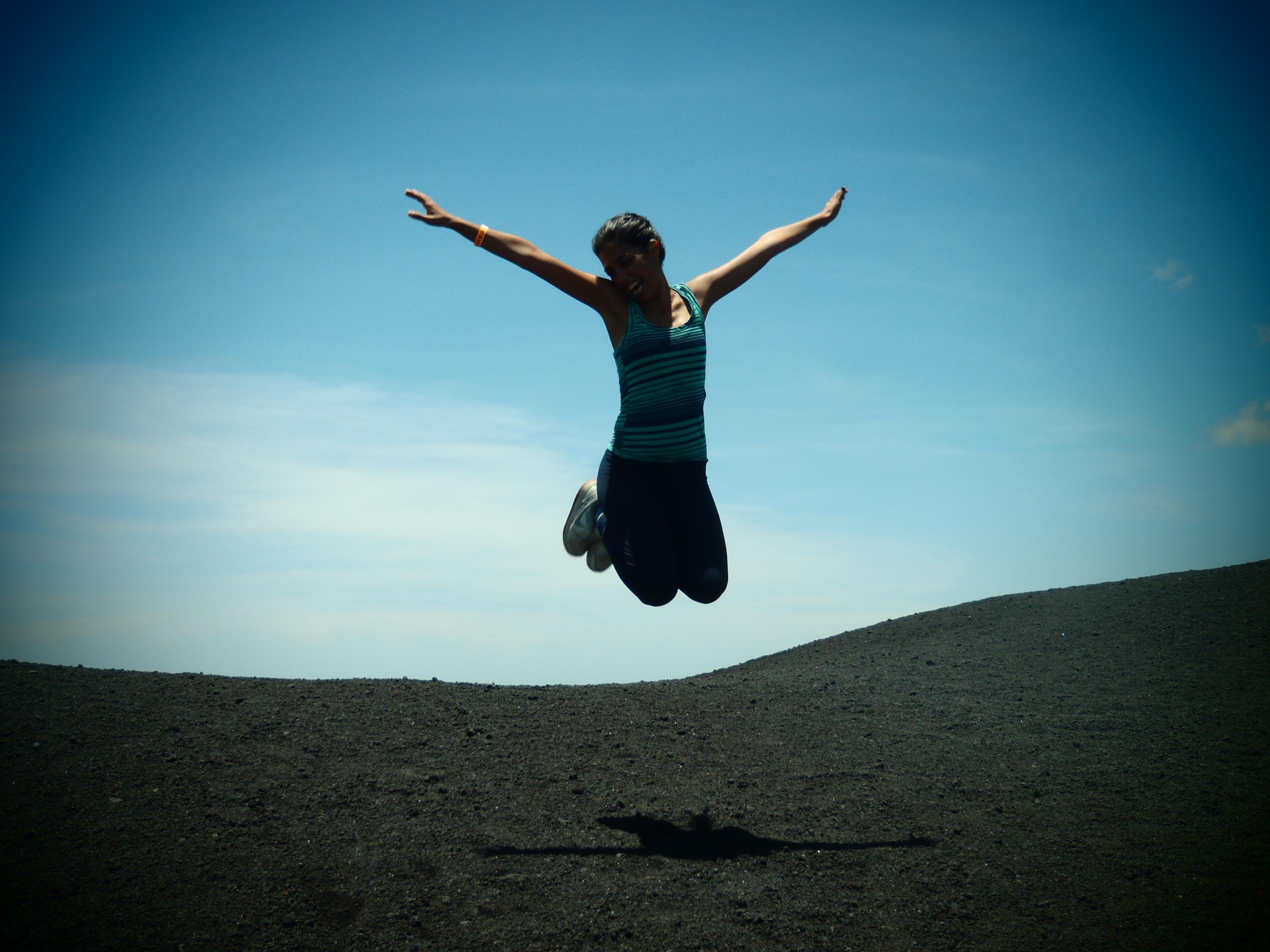Good Mate, Merav, with Her Signature Jumpin' Photograph; Nicaragua; 2013
