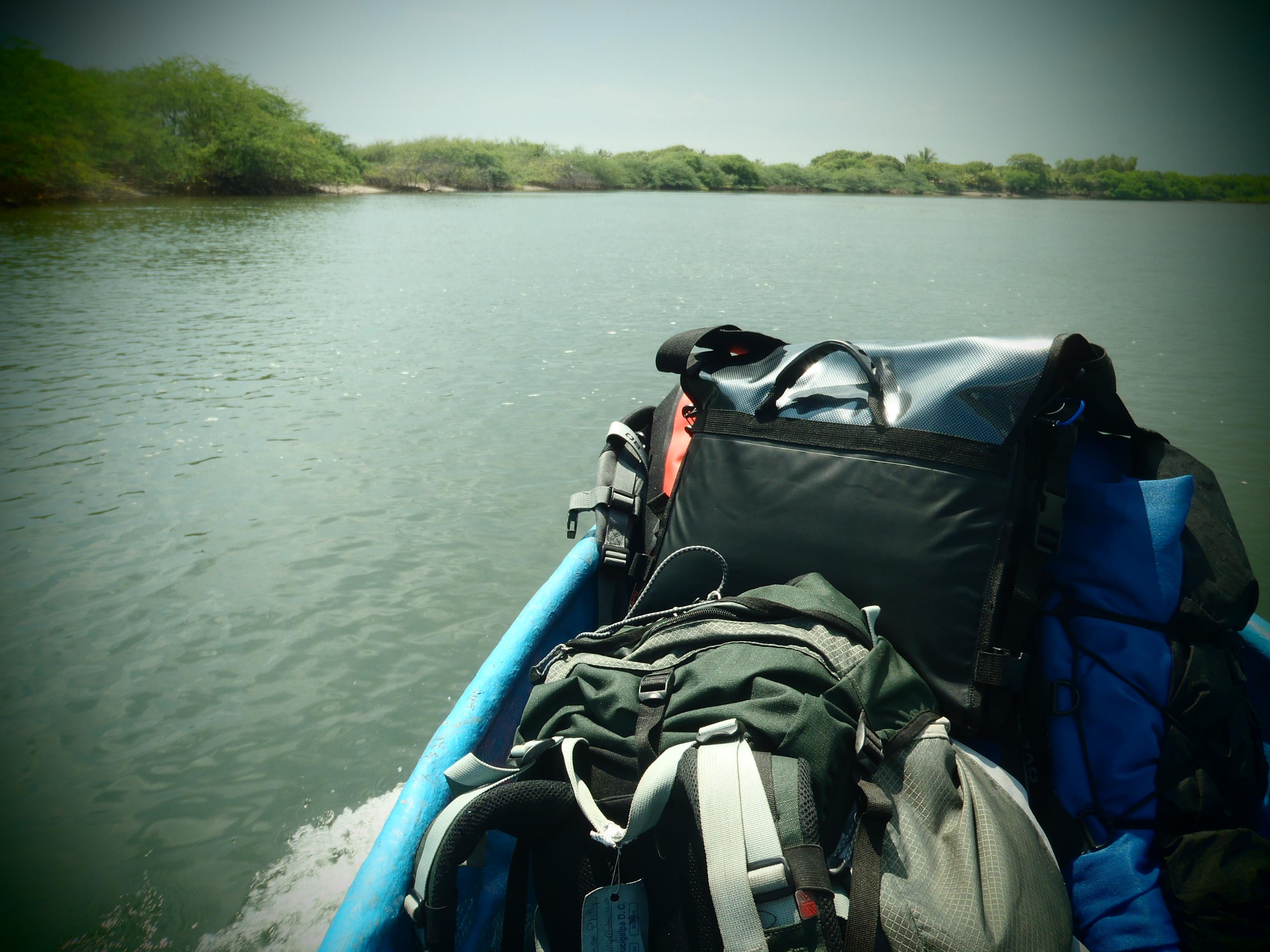 River Crossing via Small Boat; Poneloya, Nicaragua; 2013