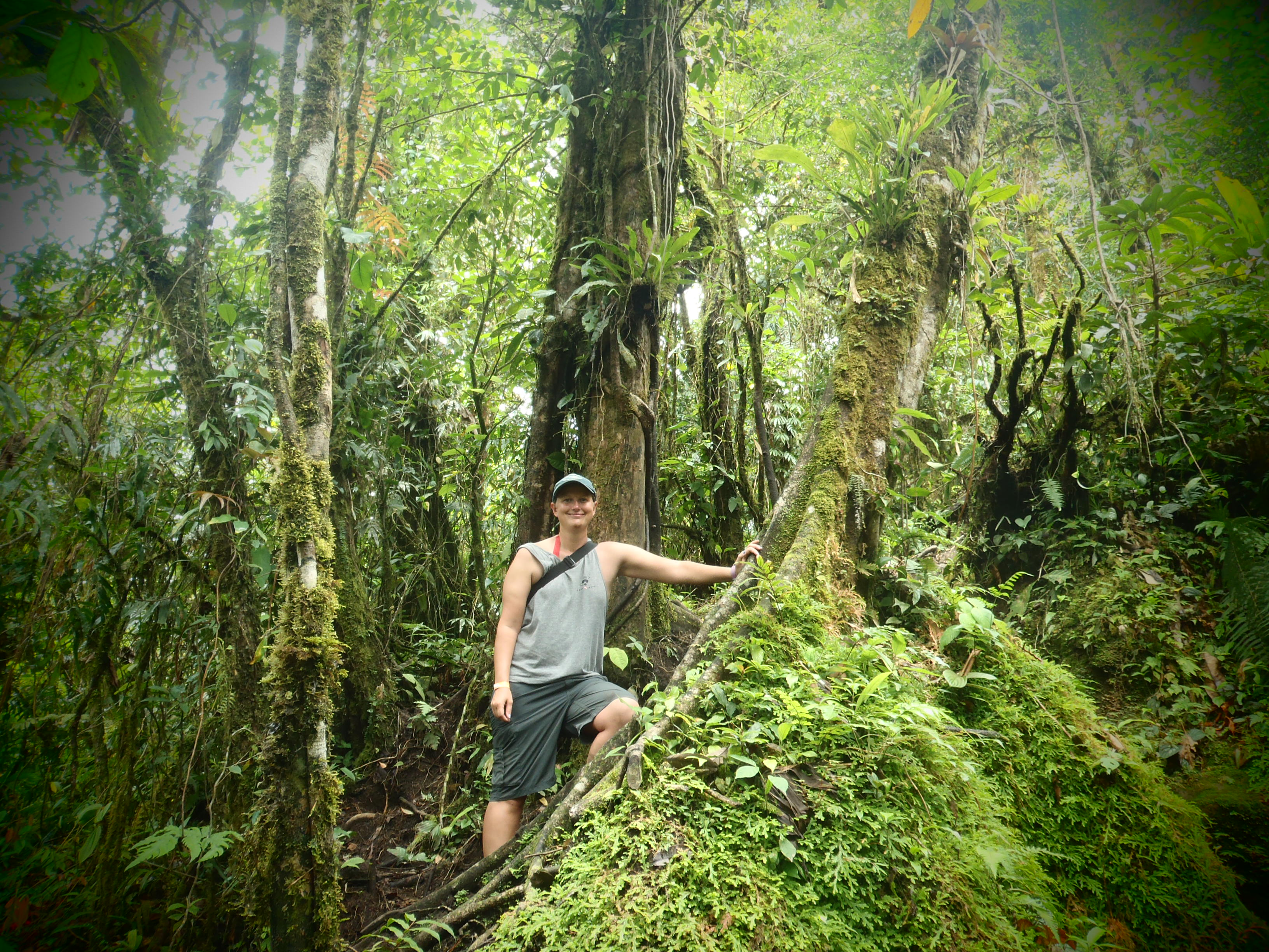 Posing during Hiking; Volcan Arenal, Costa Rica; 2013