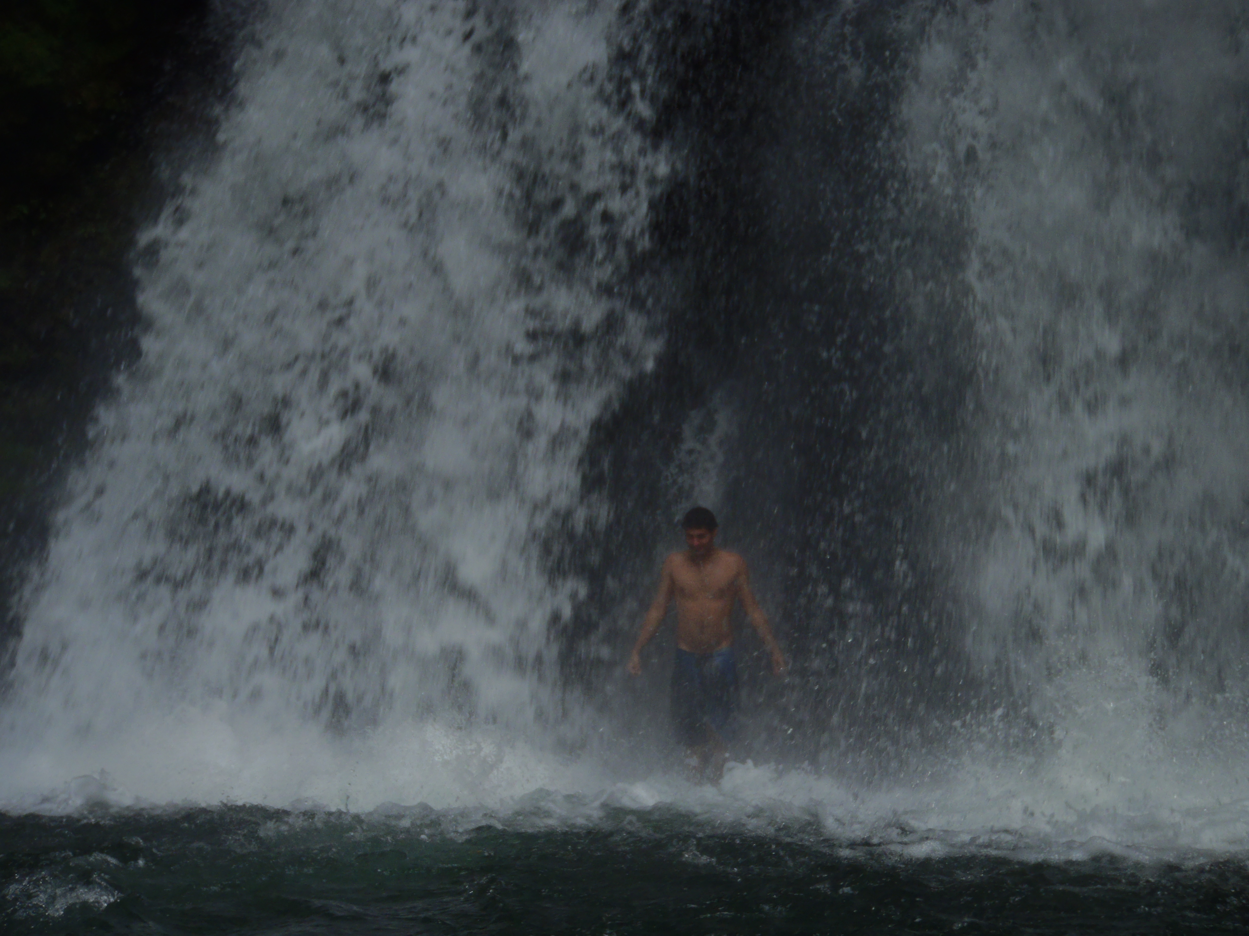 Tour Guide, Andreas and Waterfall; Volcan Arenal, Costa Rica; 2013
