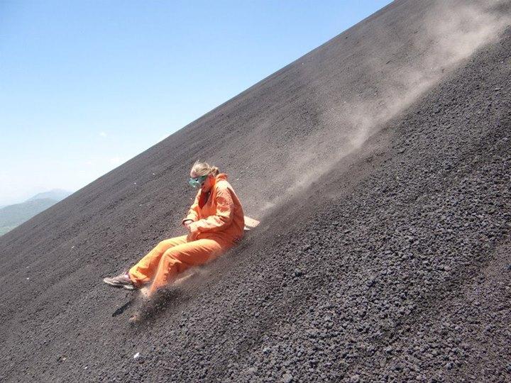 Volcano Boarding; Nicaragua; 2013