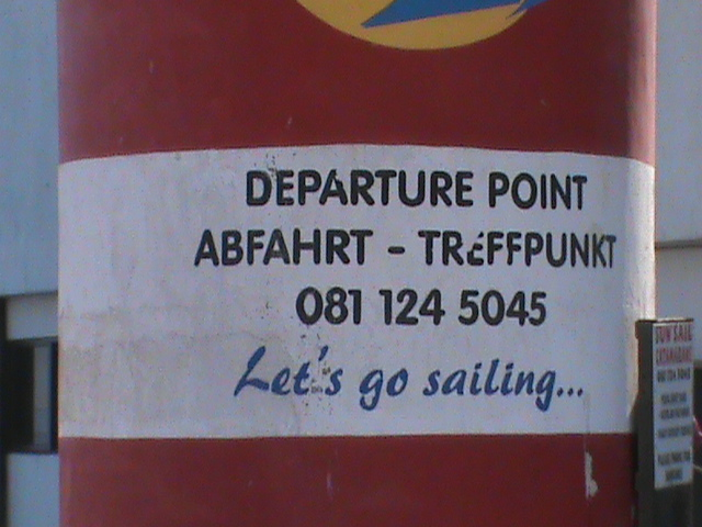 Let's Go Sailing; Walvis Bay, Namibia; 2013