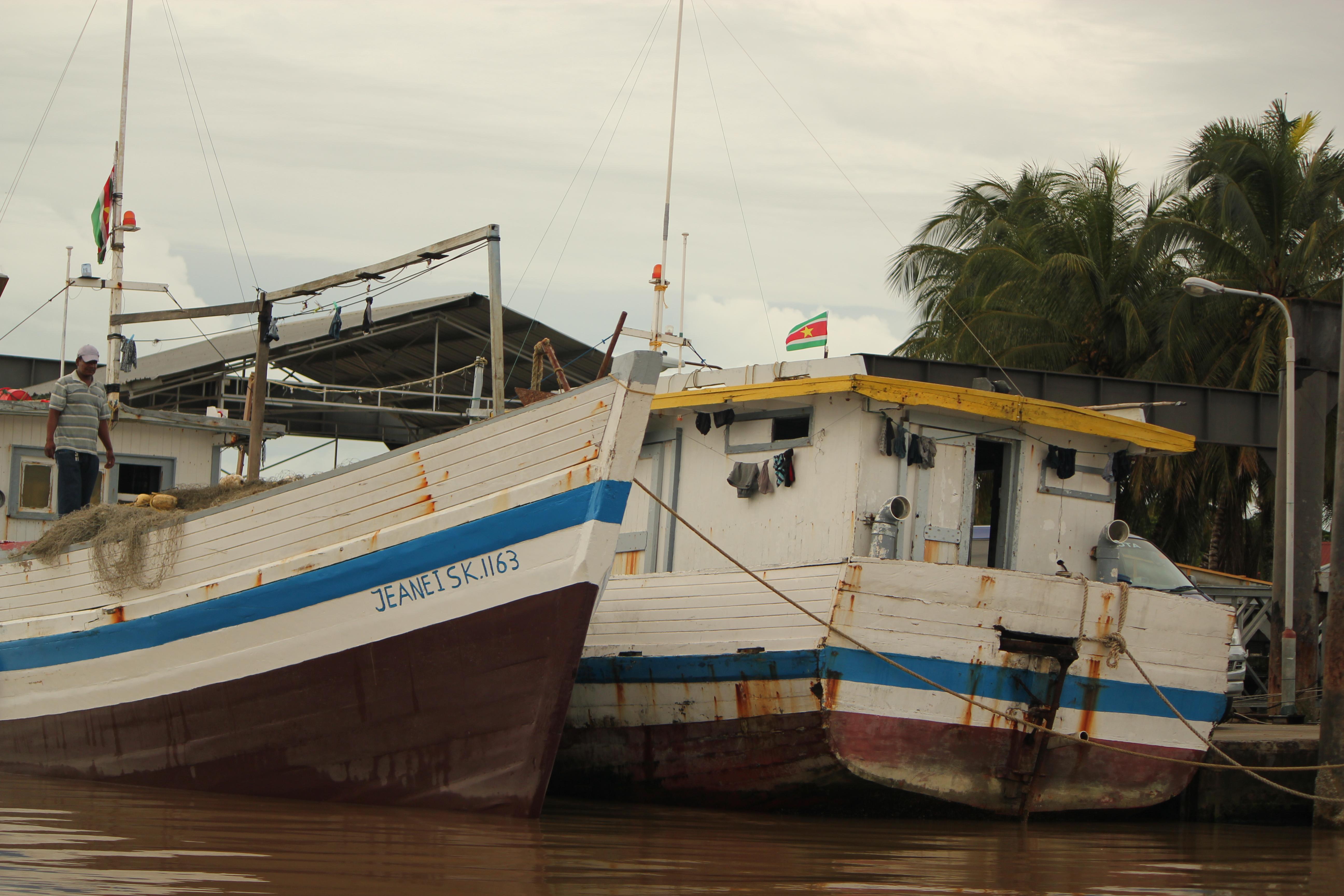 Fishing Boats; Paramibo, Suriname; 2013