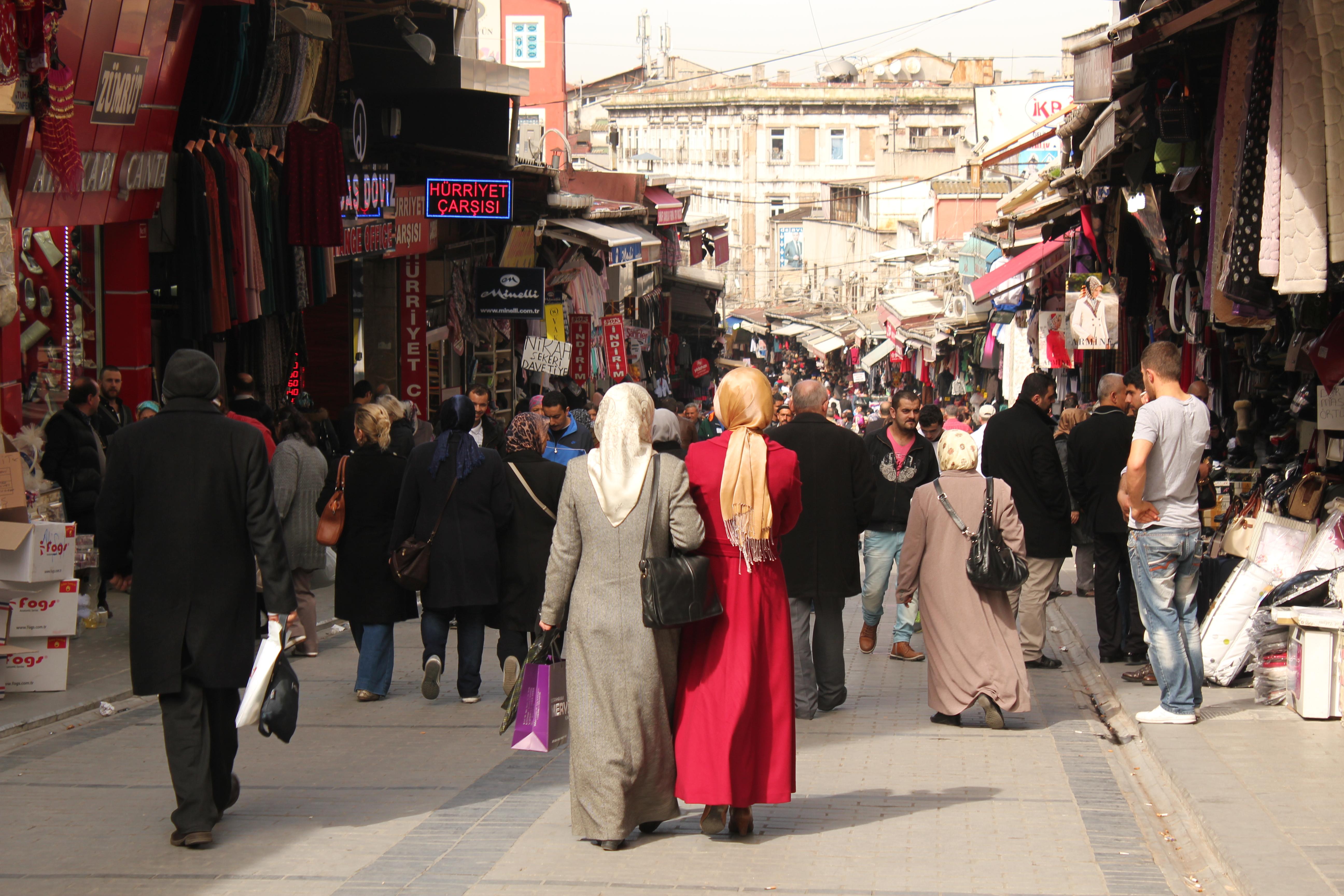Crowded Streets; Istanbul, Turkey; 2013