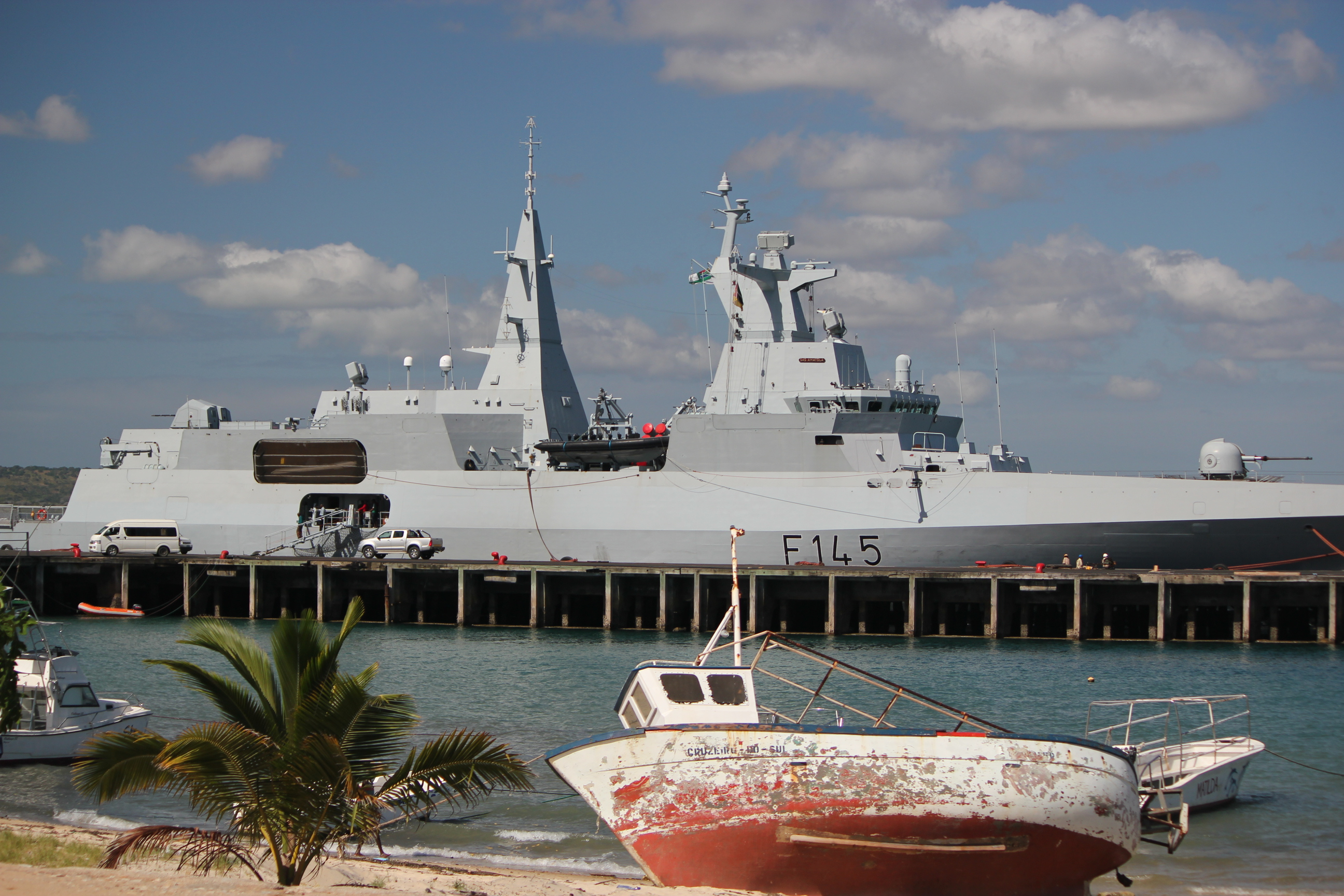 Military Ship; Pemba, Mozambique; 2011