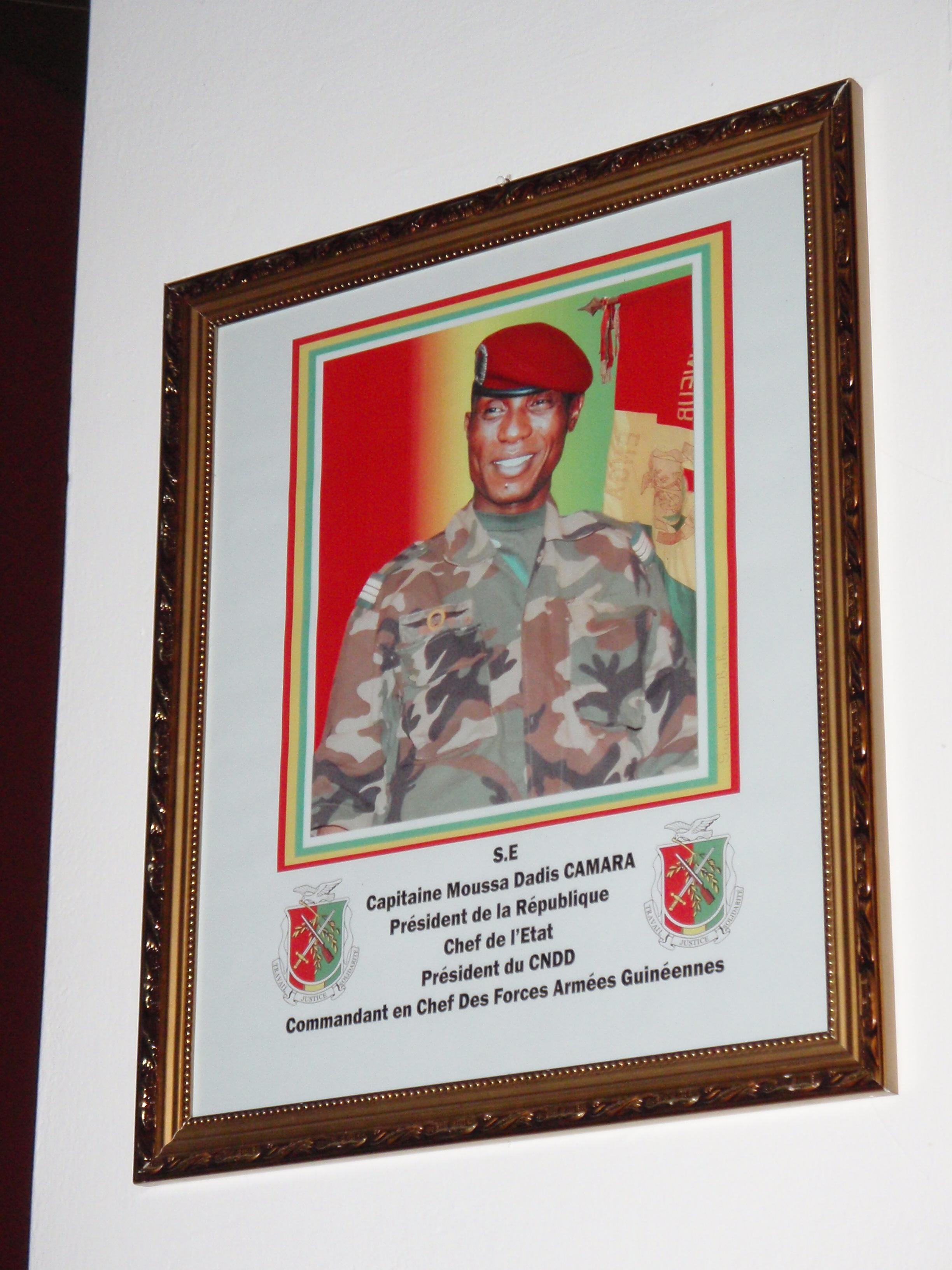 President of Guinea Portrait; Conakry, Guinea; 2010