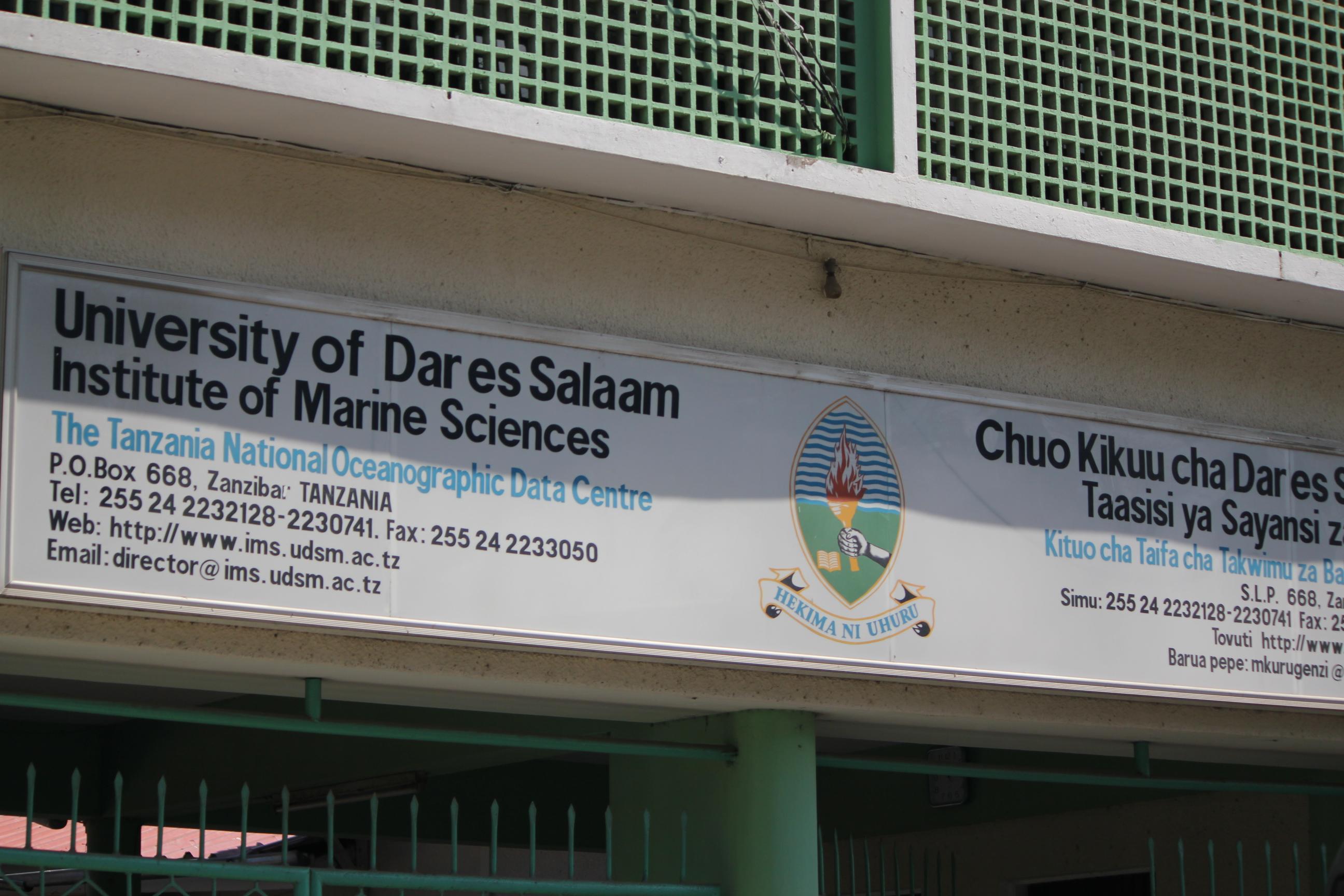 University of Dar es Salaam  - Marine Sciences; Stone Town, Zanzibar, Tanzania; 2011