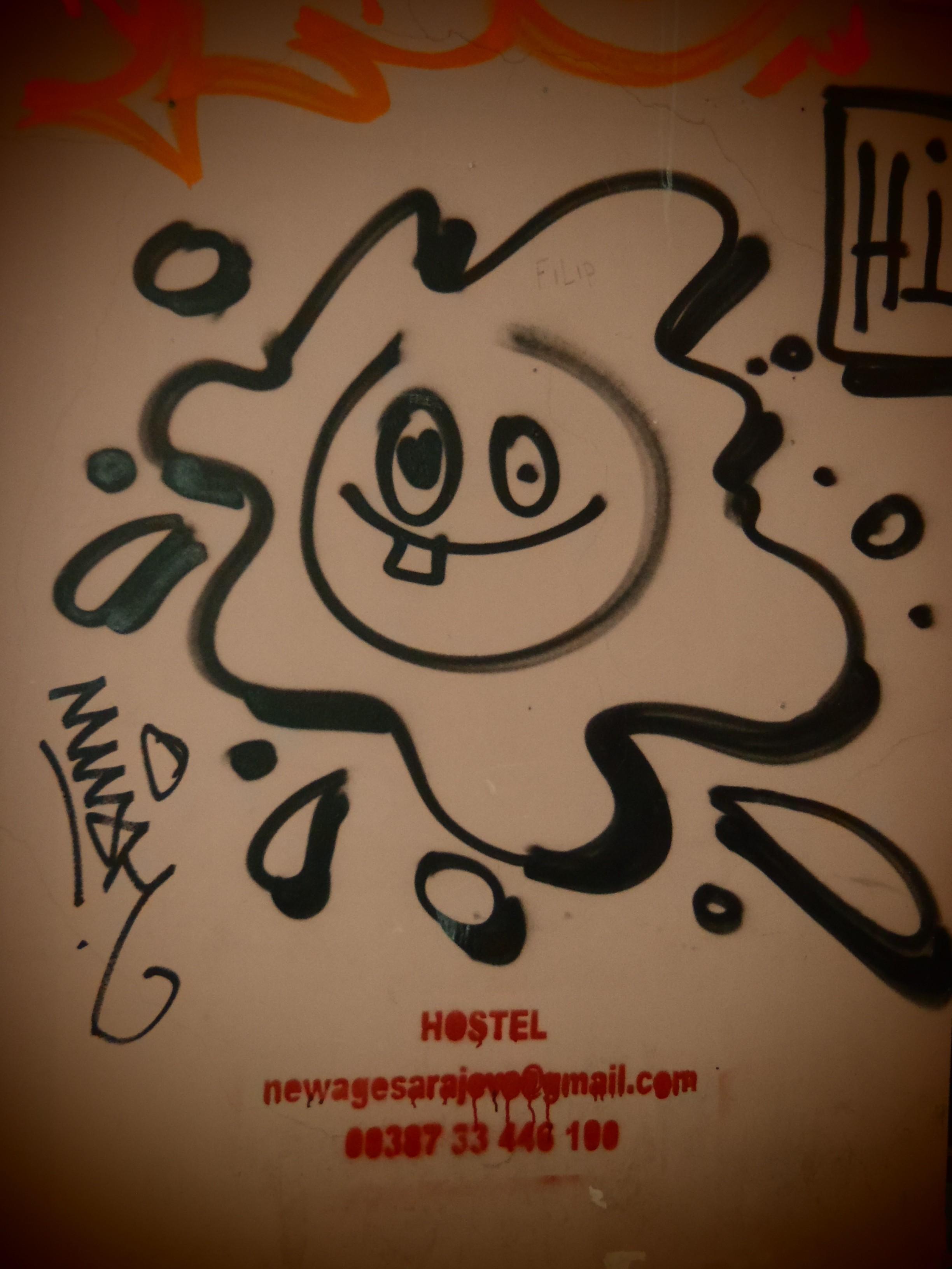Graffiti; Sarajevo, Bosnia & Herzegovina; 2013