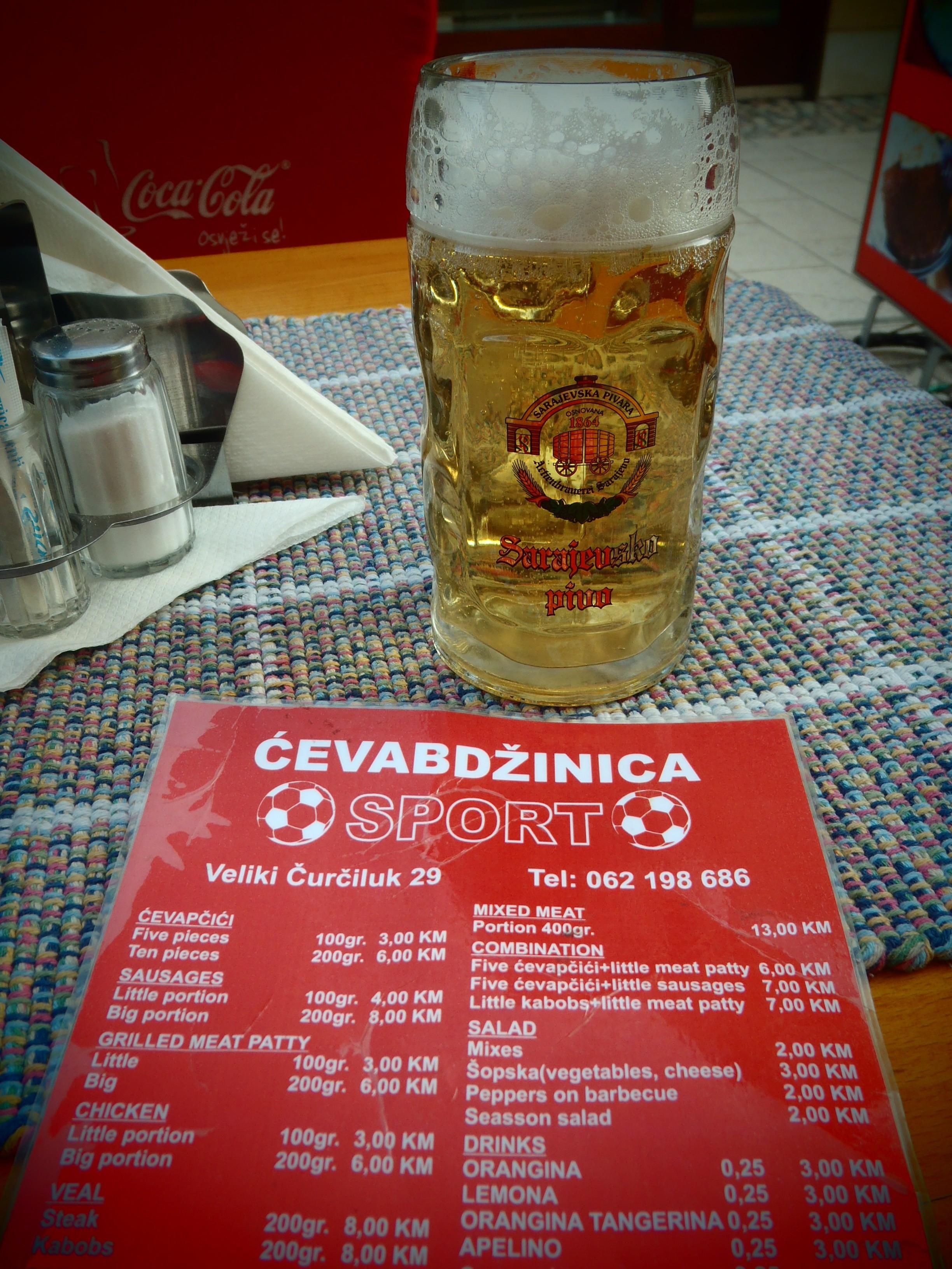 Local Beer; Sarajevo, Bosnia & Herzegovina; 2013