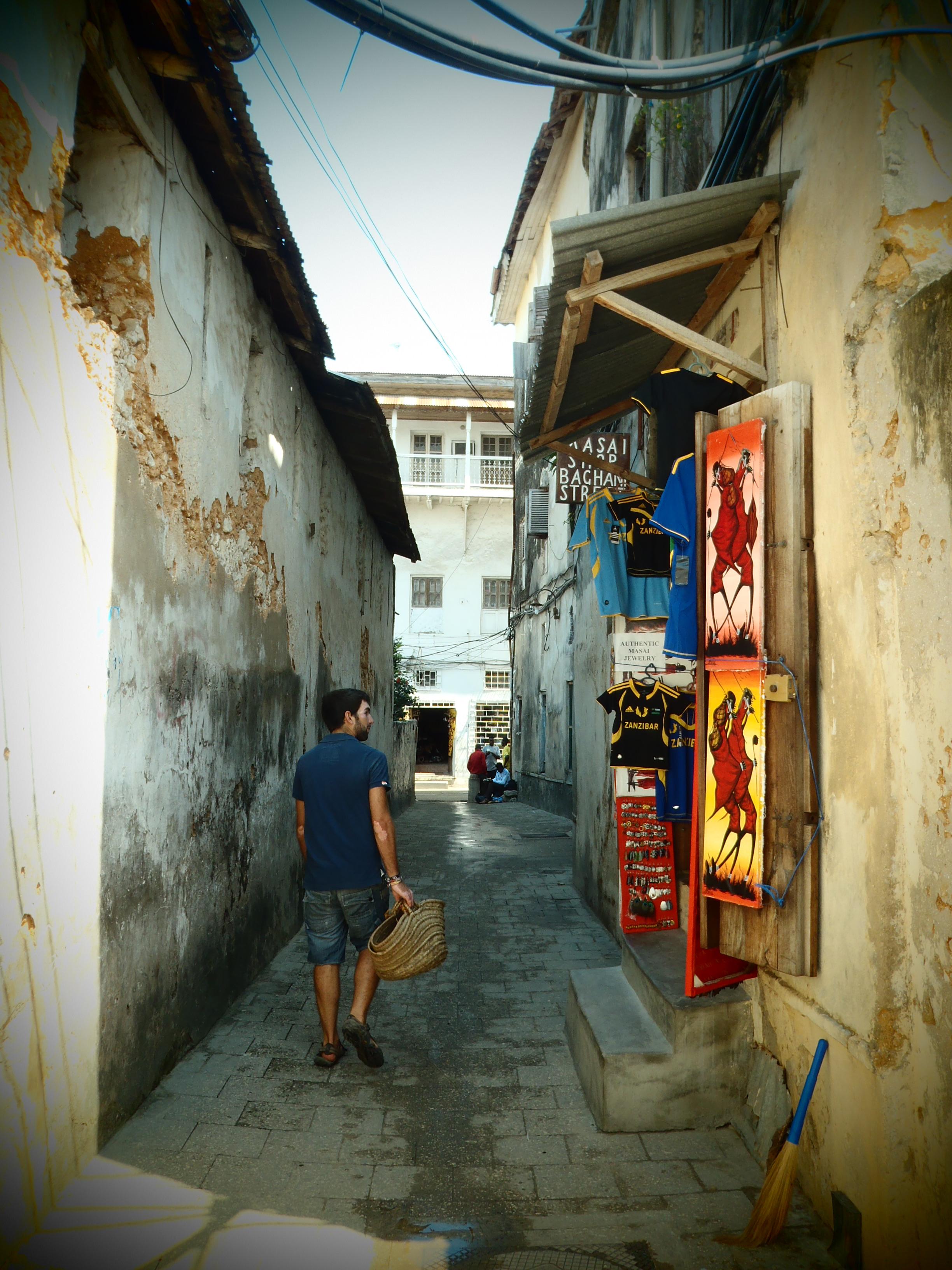 Nat and the Maze; Stone Town, Zanzibar, Tanzania; 2011