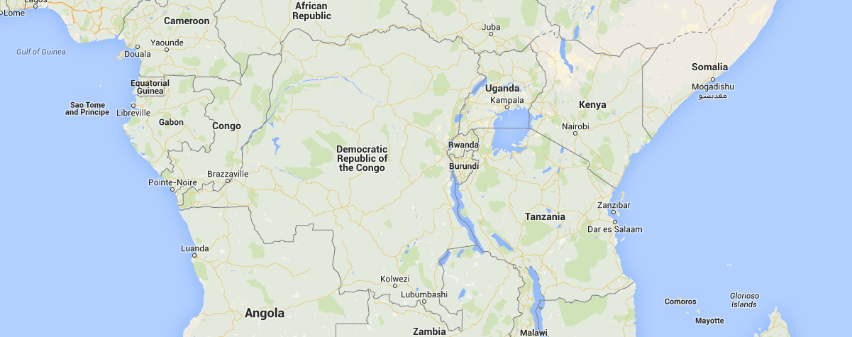 Location of Democratic Republic of Congo in Africa