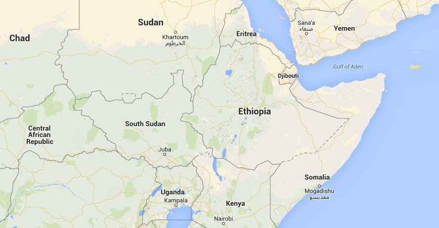 Location of Ethiopia in Africa