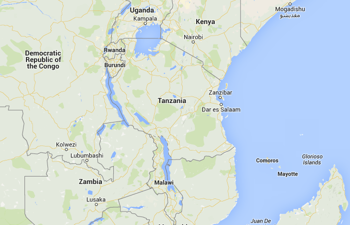 Location of Tanzania in Africa