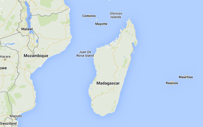 Location of Republic of Madagascar in Africa