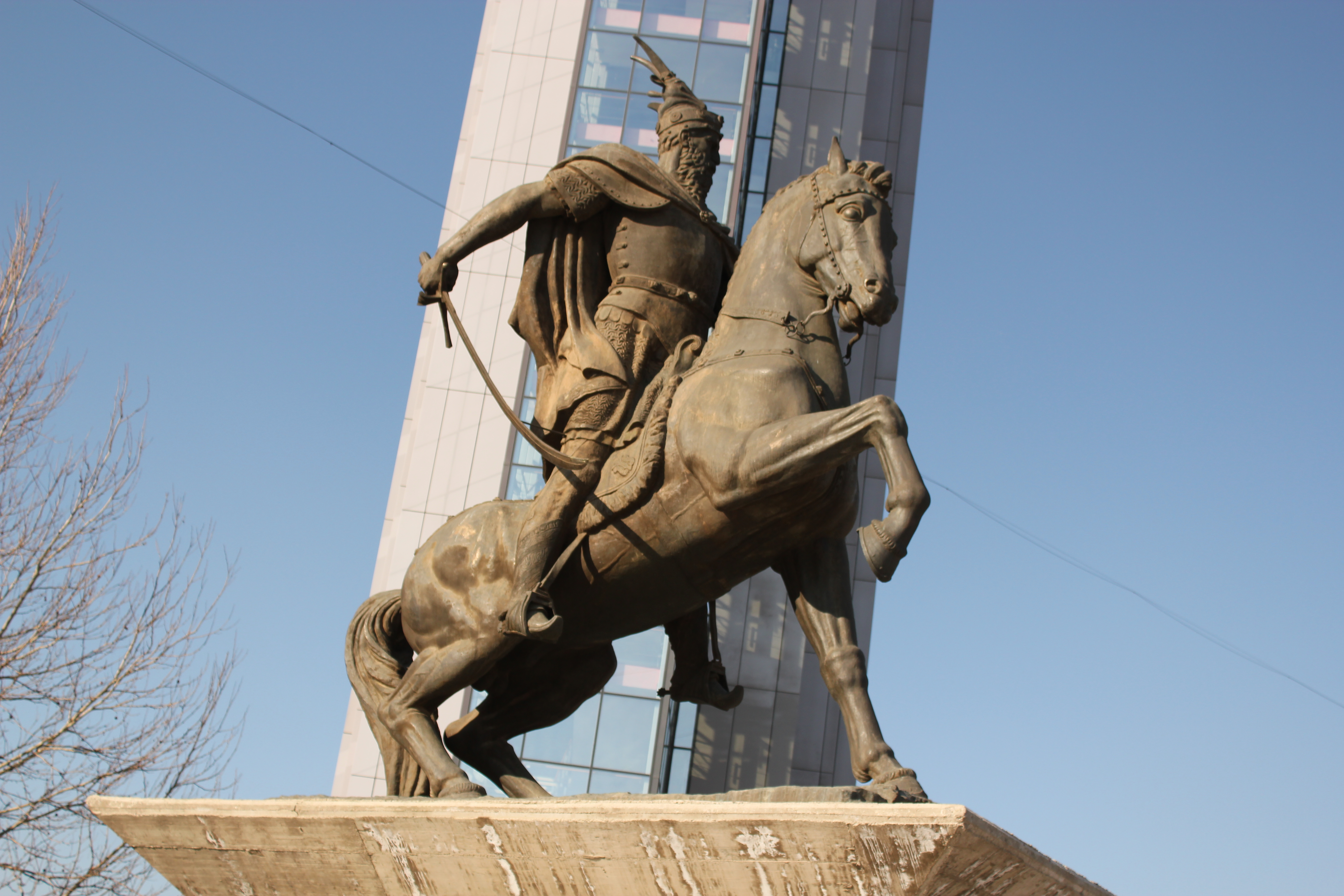 Statue; Pristina, Kosovo; 2013