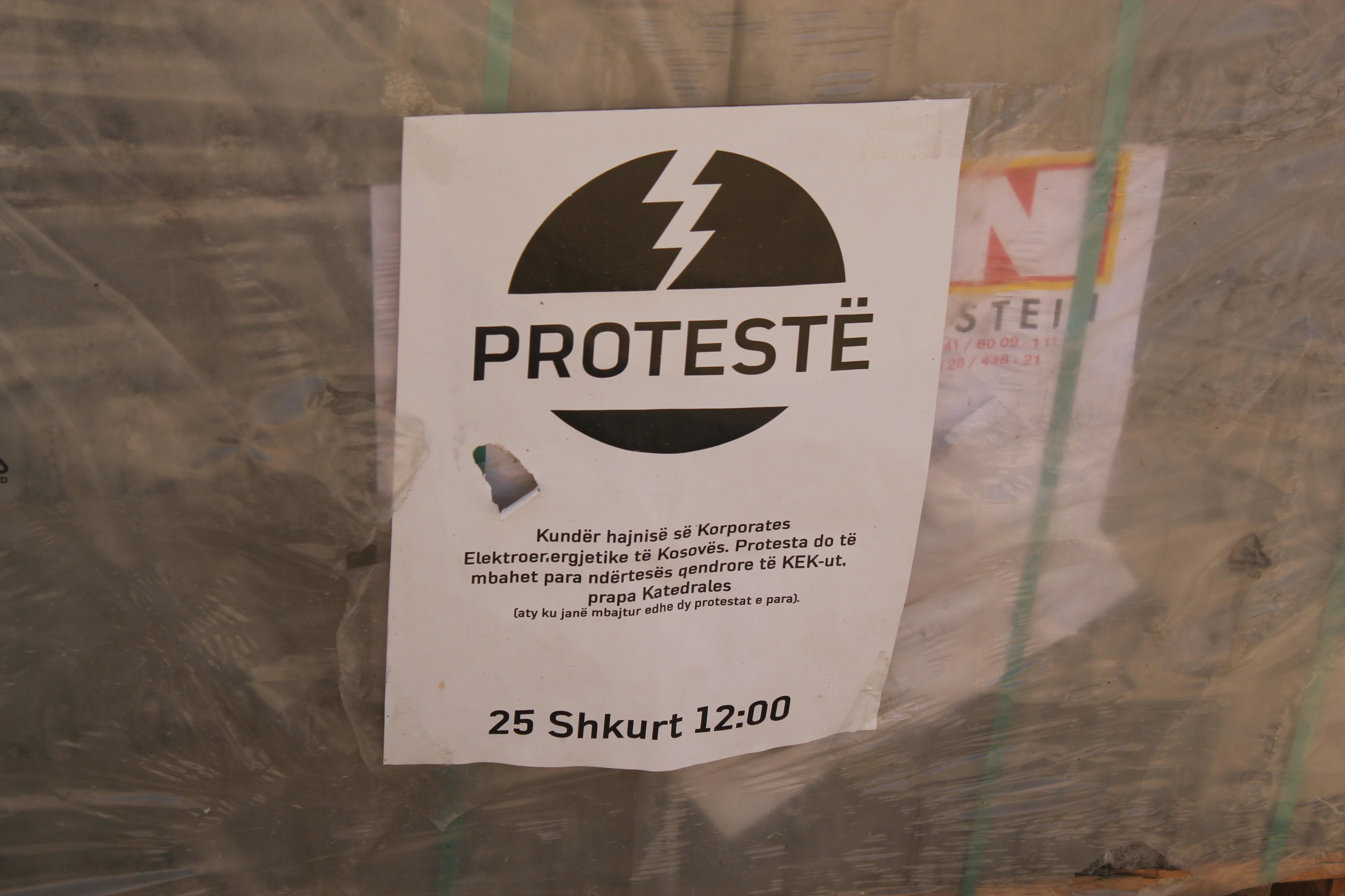 Protest; Pristina, Kosovo; 2013