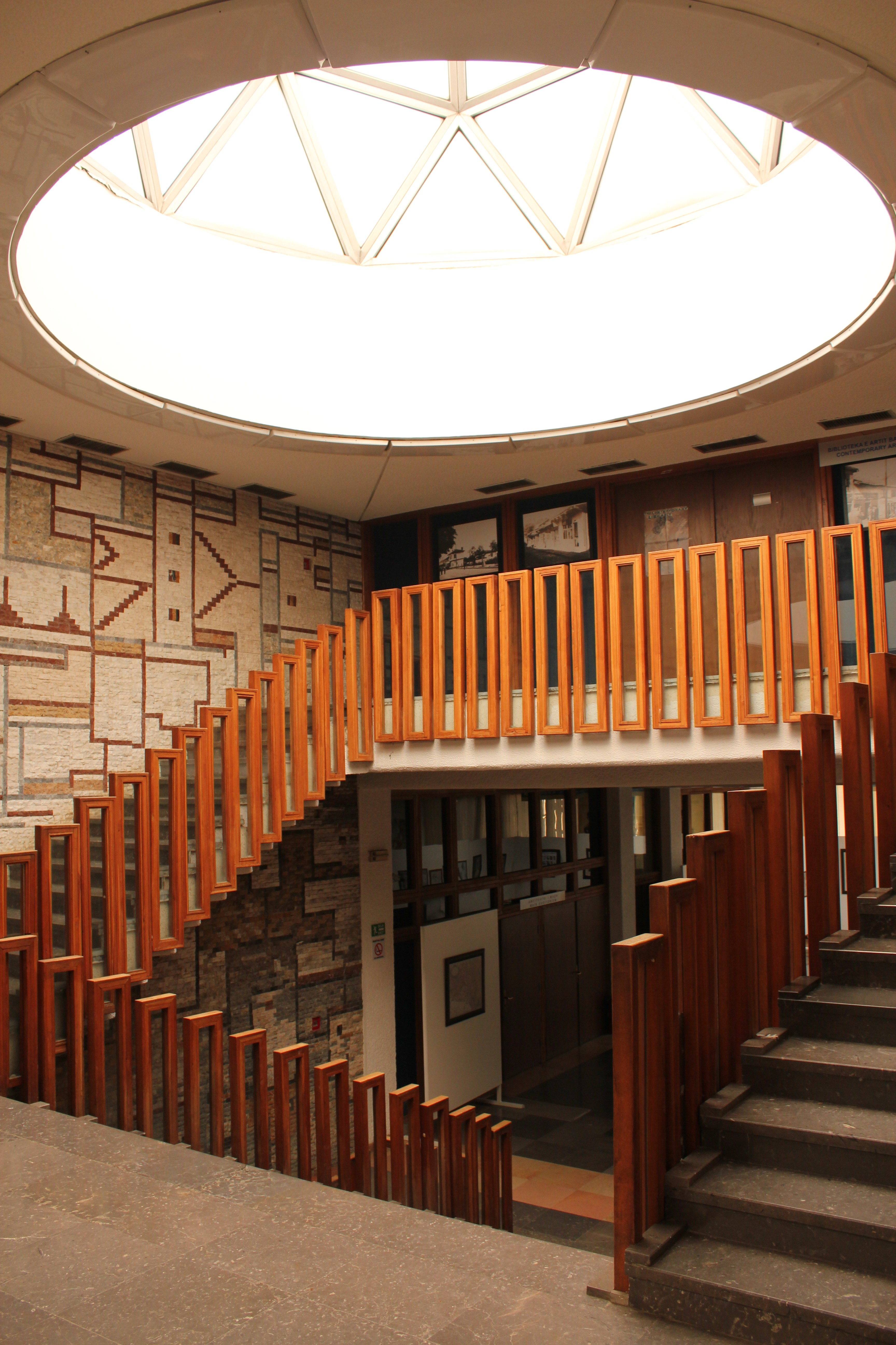 Stairwell of University Library; Pristina, Kosovo; 2013