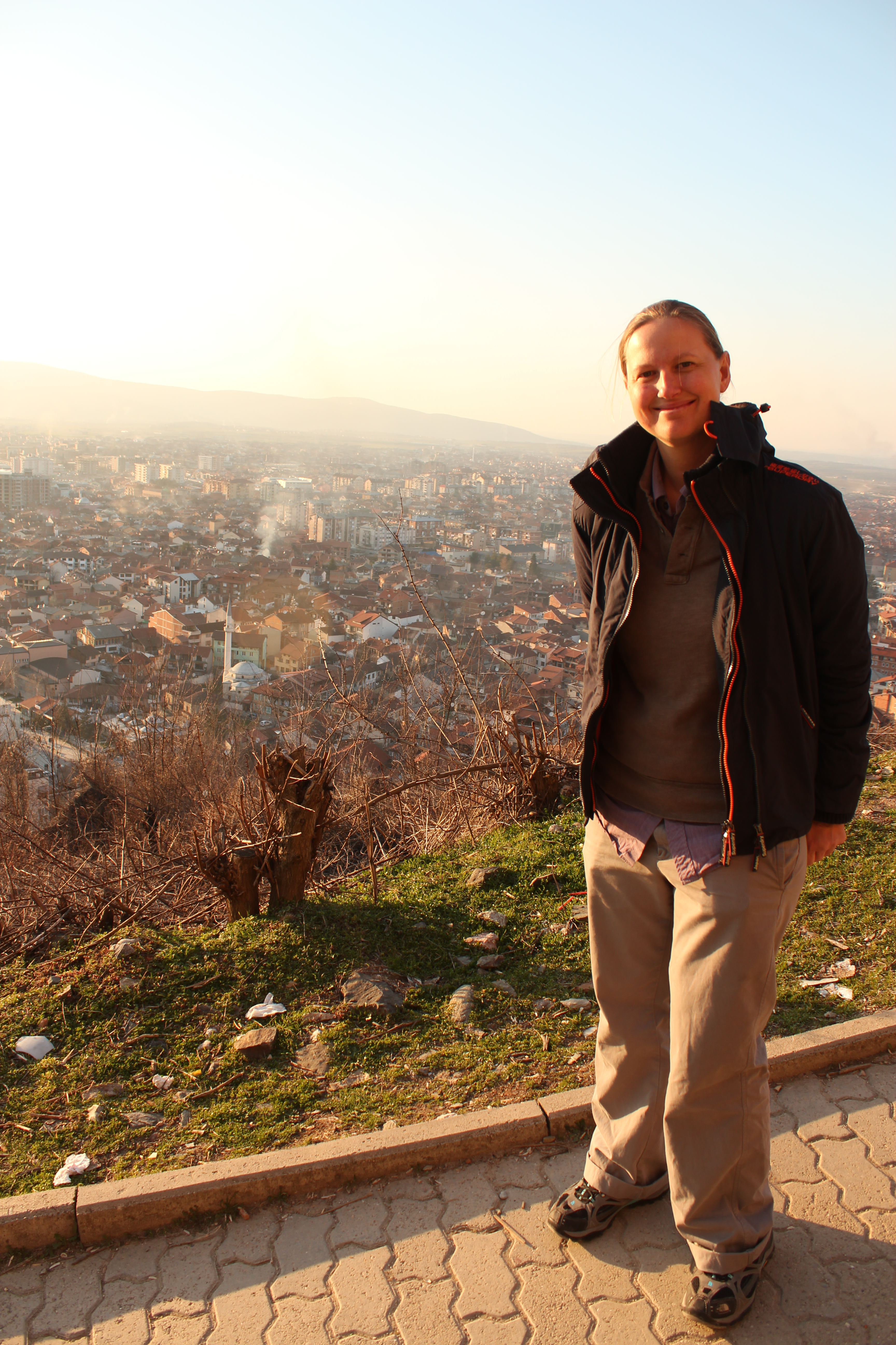 Selfie with City View; Prizren, Kosovo; 2013