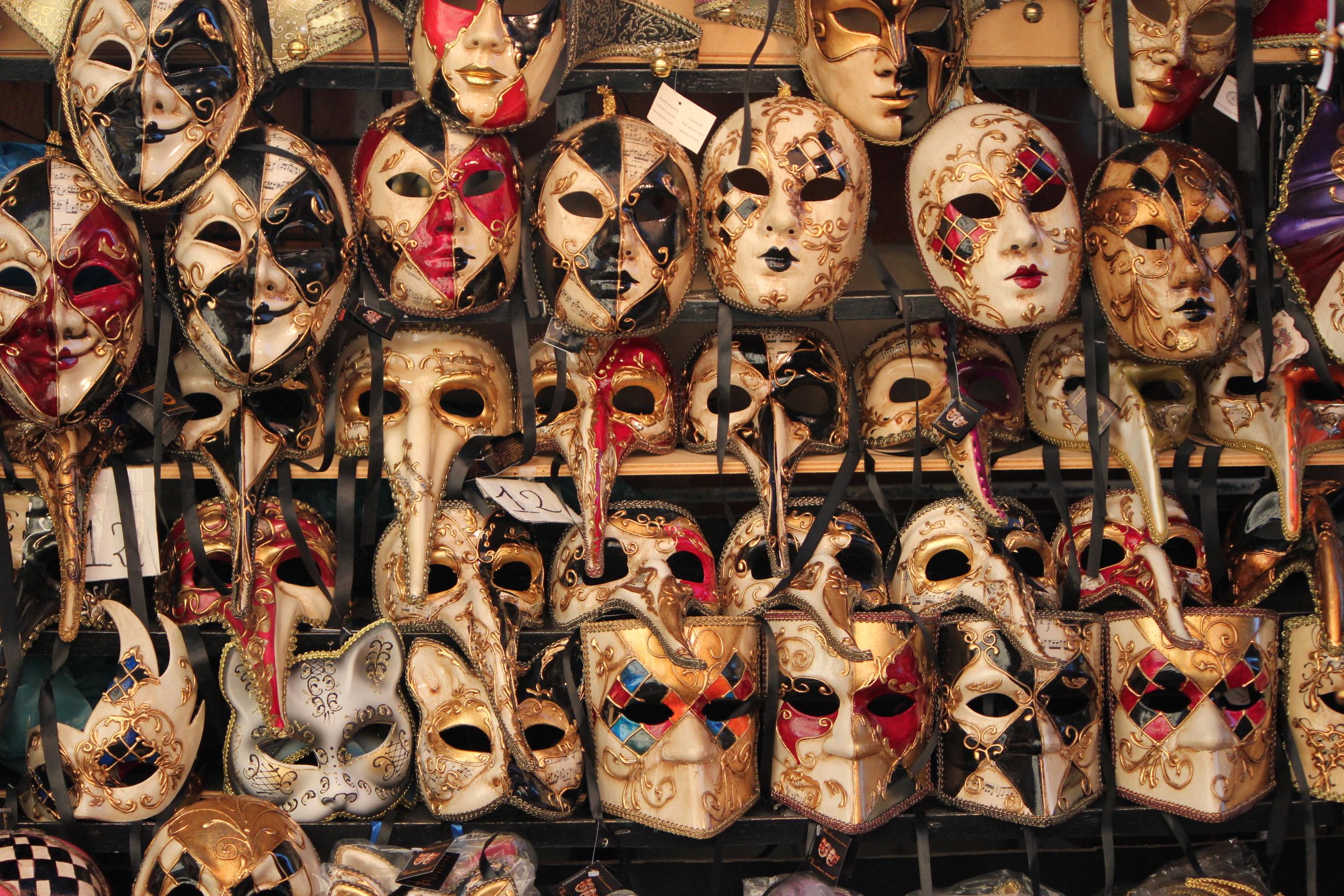 Venetian Masks; Venice, Italy; 2011