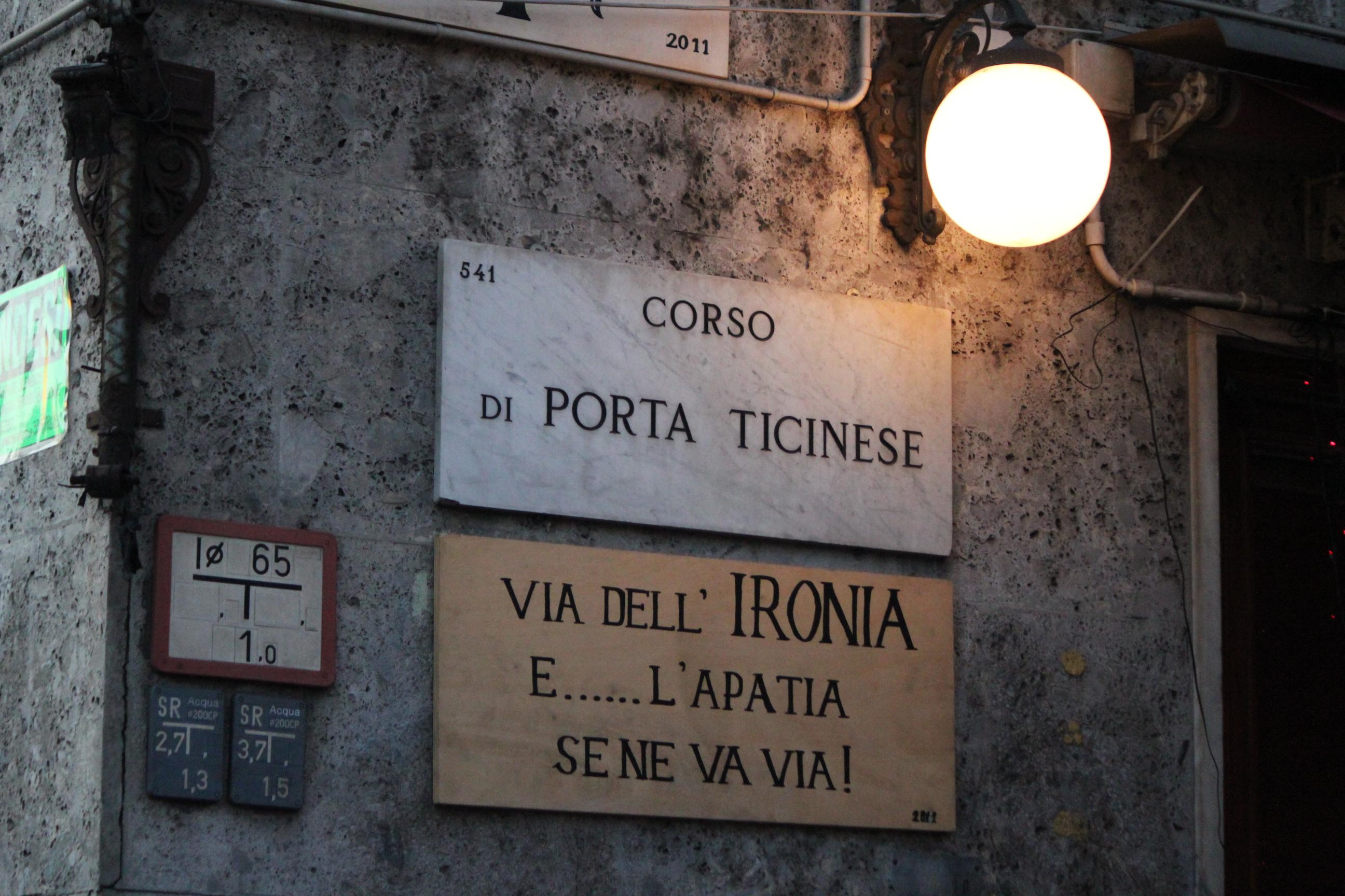 Corner Street; Milan, Italy; 2011