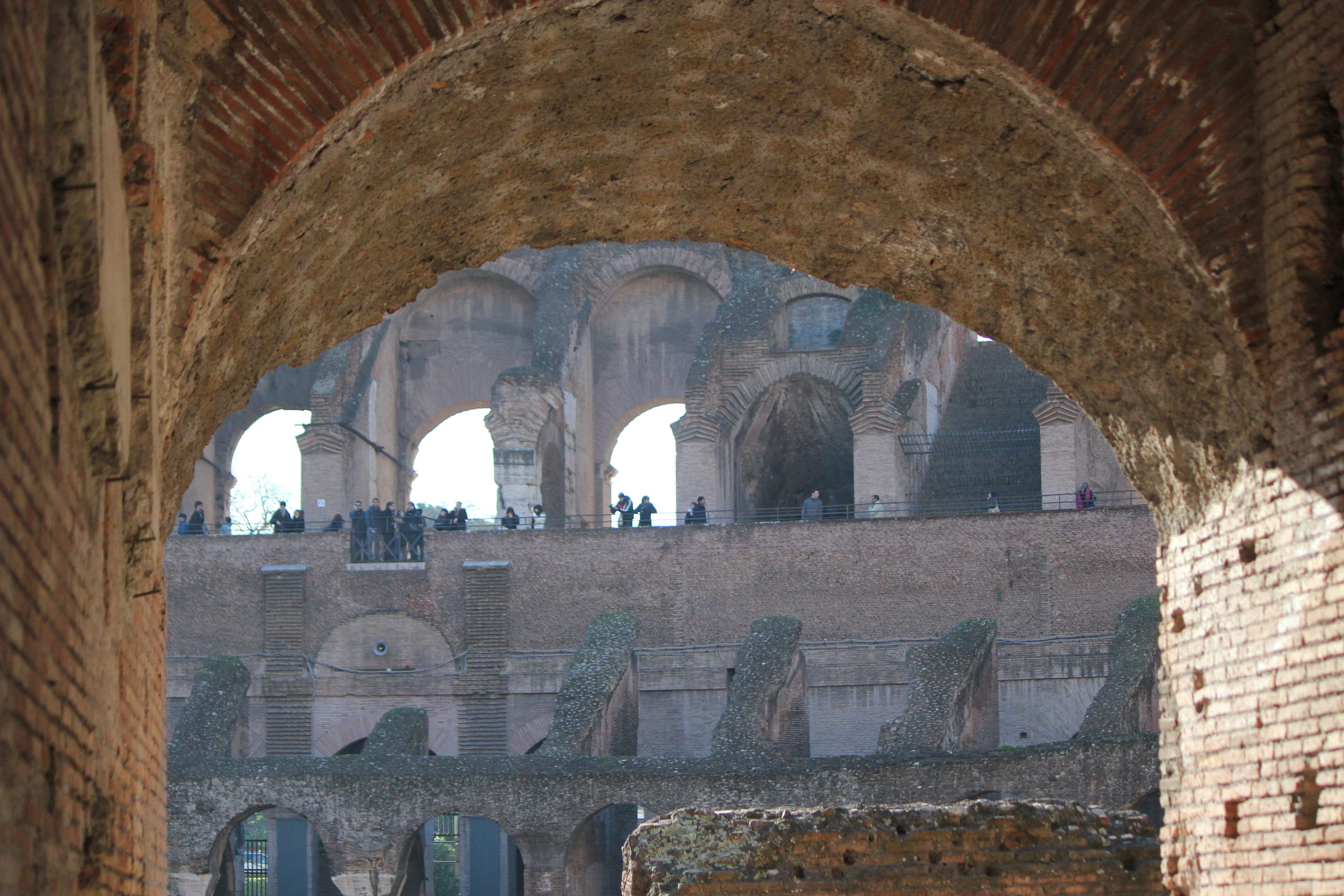 The View Into the Colosseum; Rome, Italy; 2011
