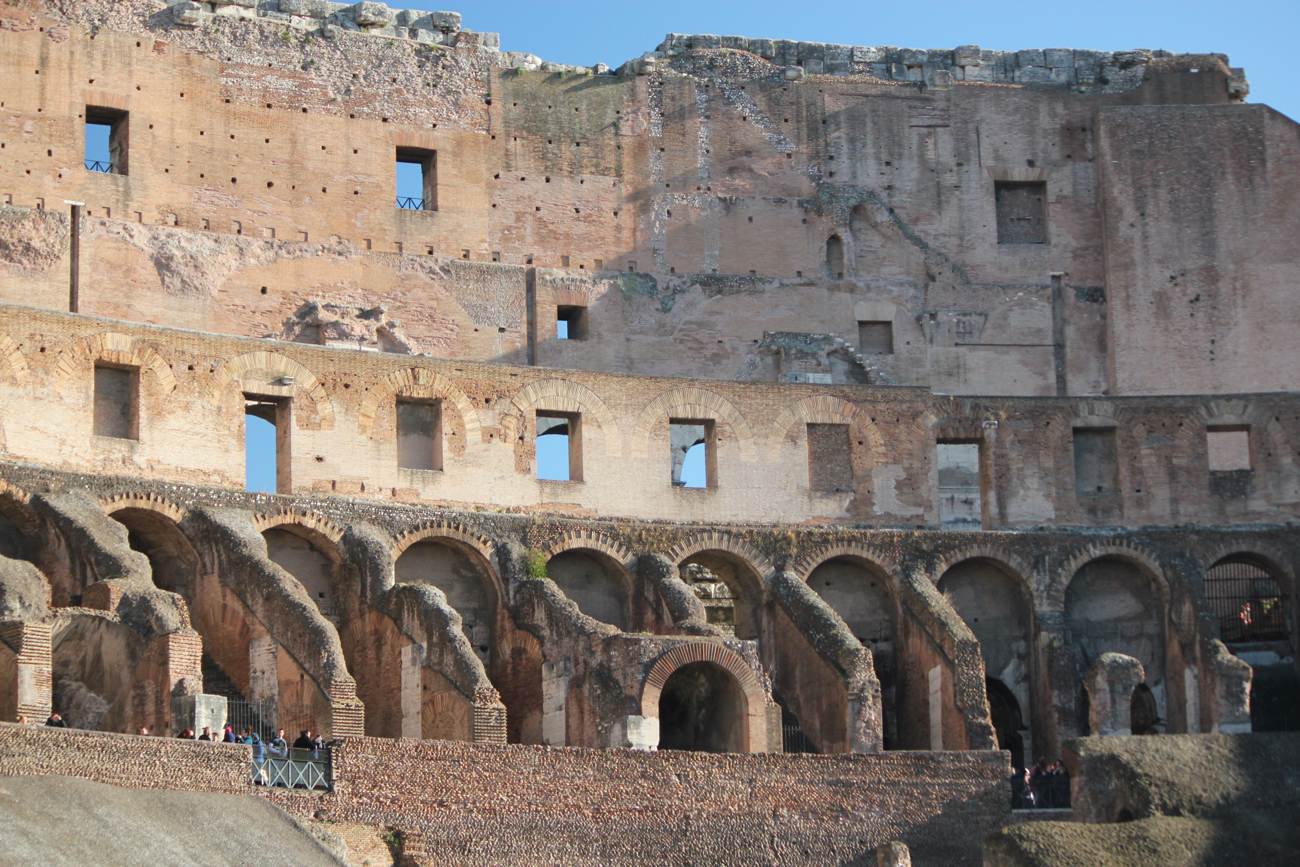 Inside of The Colosseum; Rome, Italy; 2011