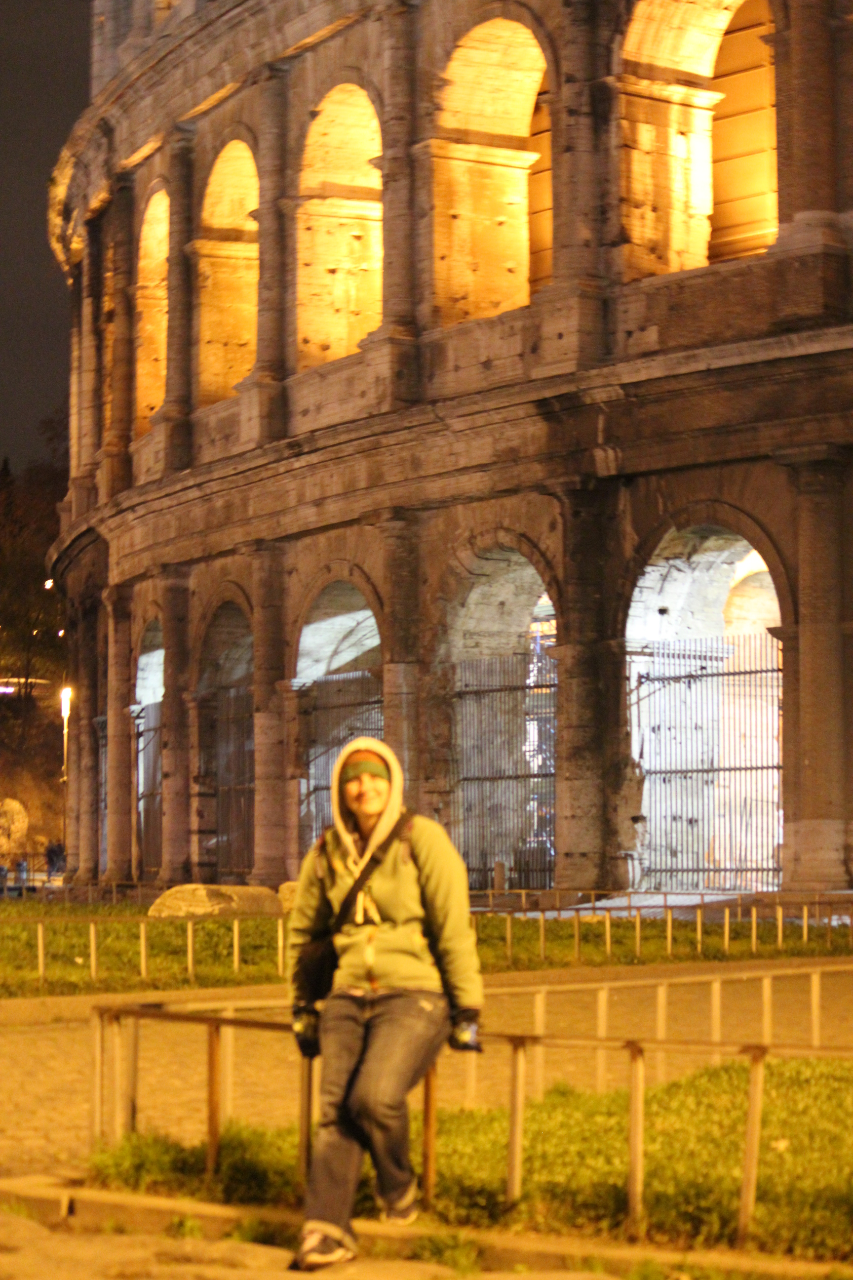 Nighttime at the Colosseum; Rome, Italy; 2011