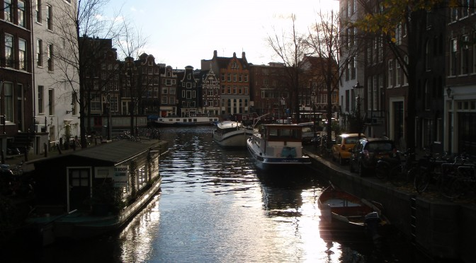 Canal through the City; Amsterdam, Netherlands; 2010