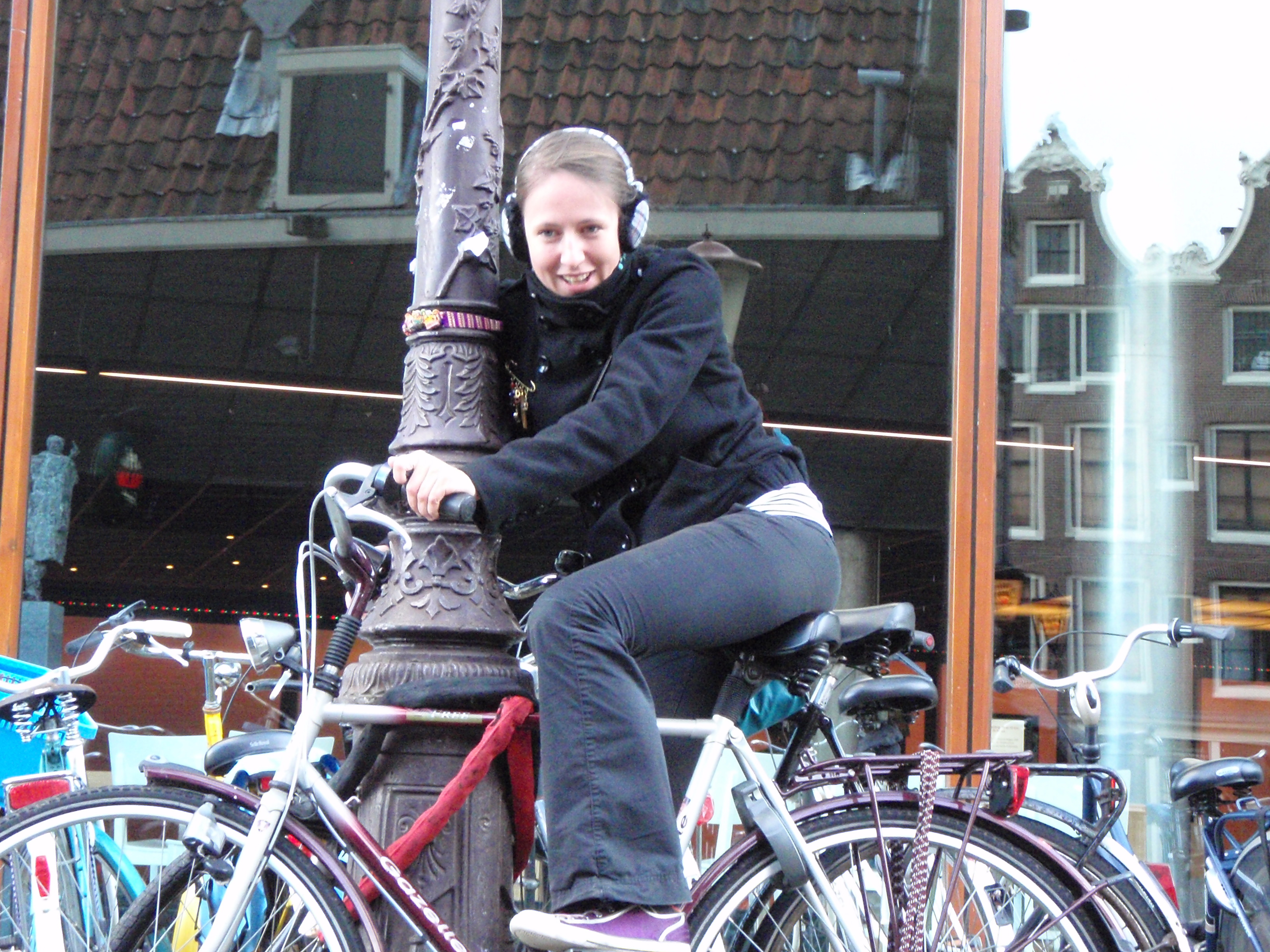 Polish Best Mate, Beata with Bike; Amsterdam, Netherlands; 2010