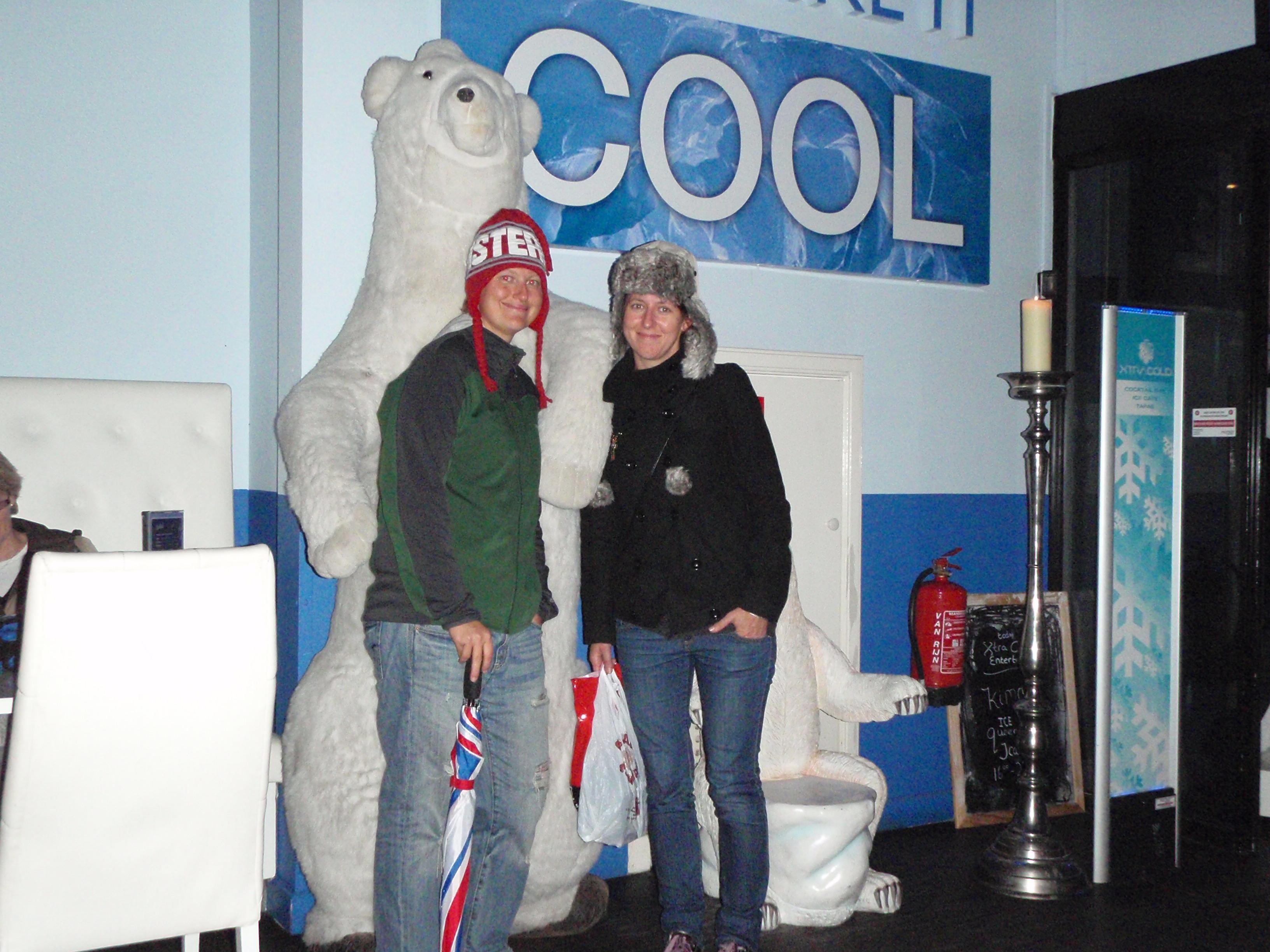 Polish Best Mate, Beata and I in Ice Bar; Amsterdam, Netherlands; 2010
