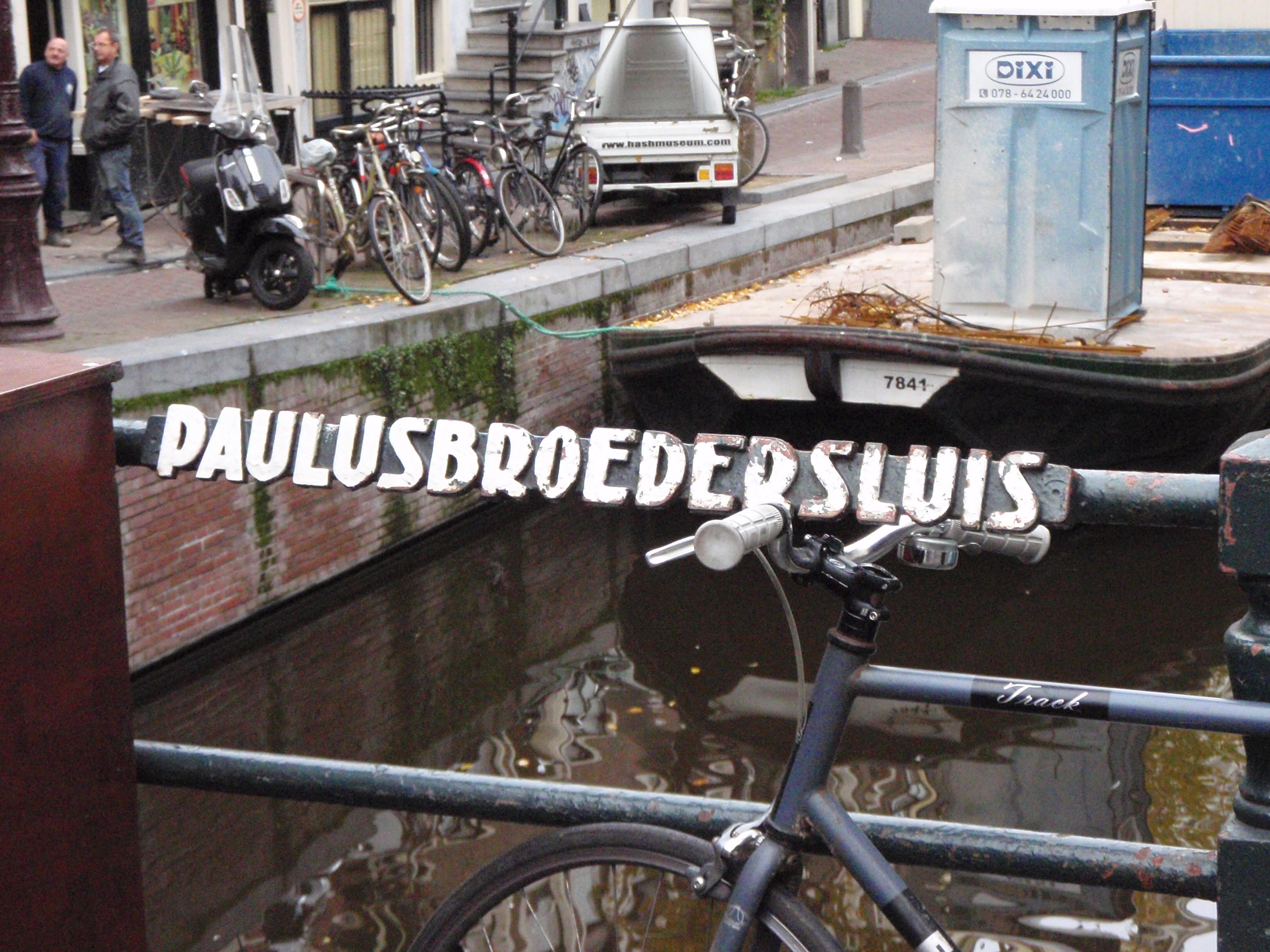 Street Sign with Bike; Amsterdam, Netherlands; 2010